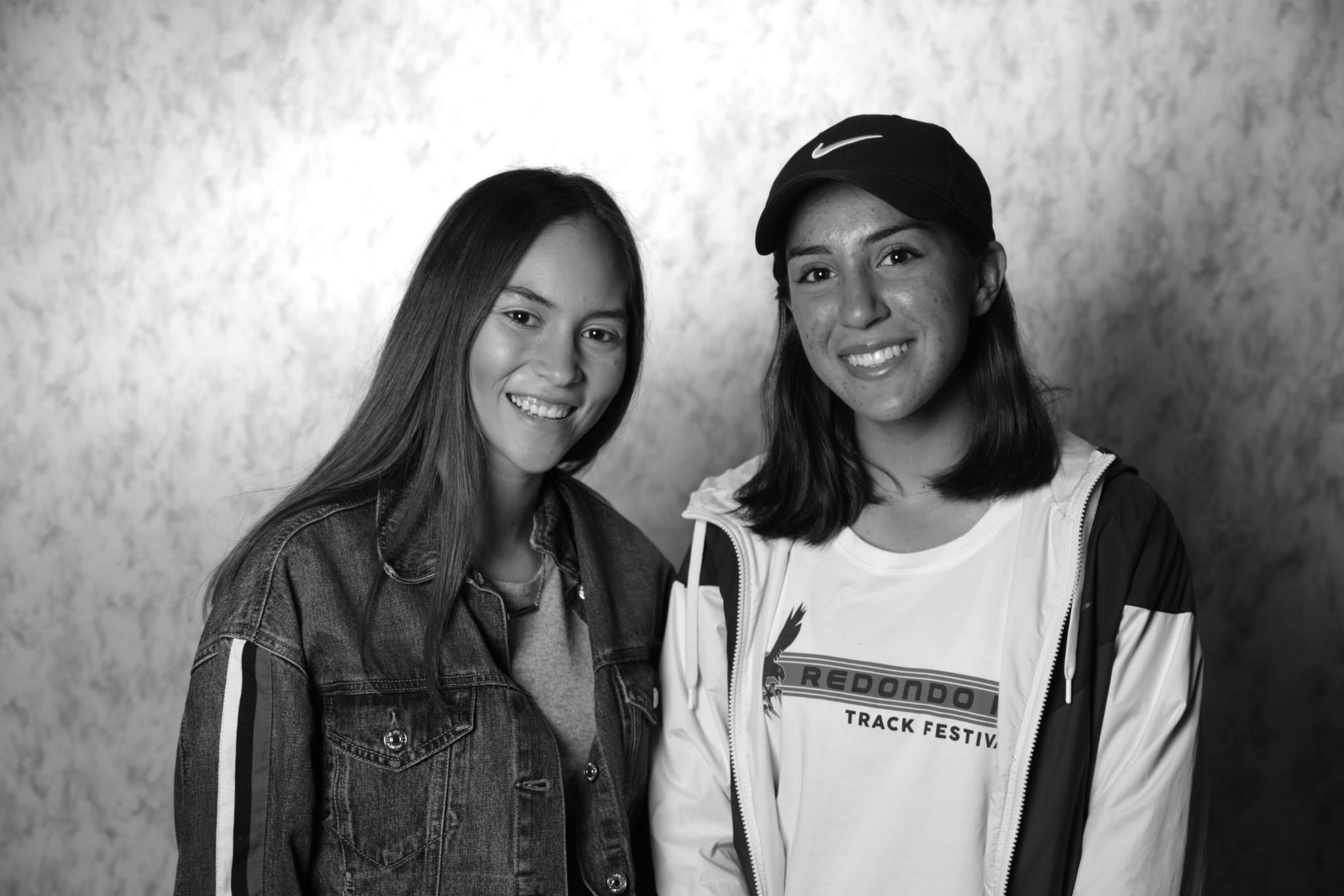 Andrea Escobar and Nicole Contreras