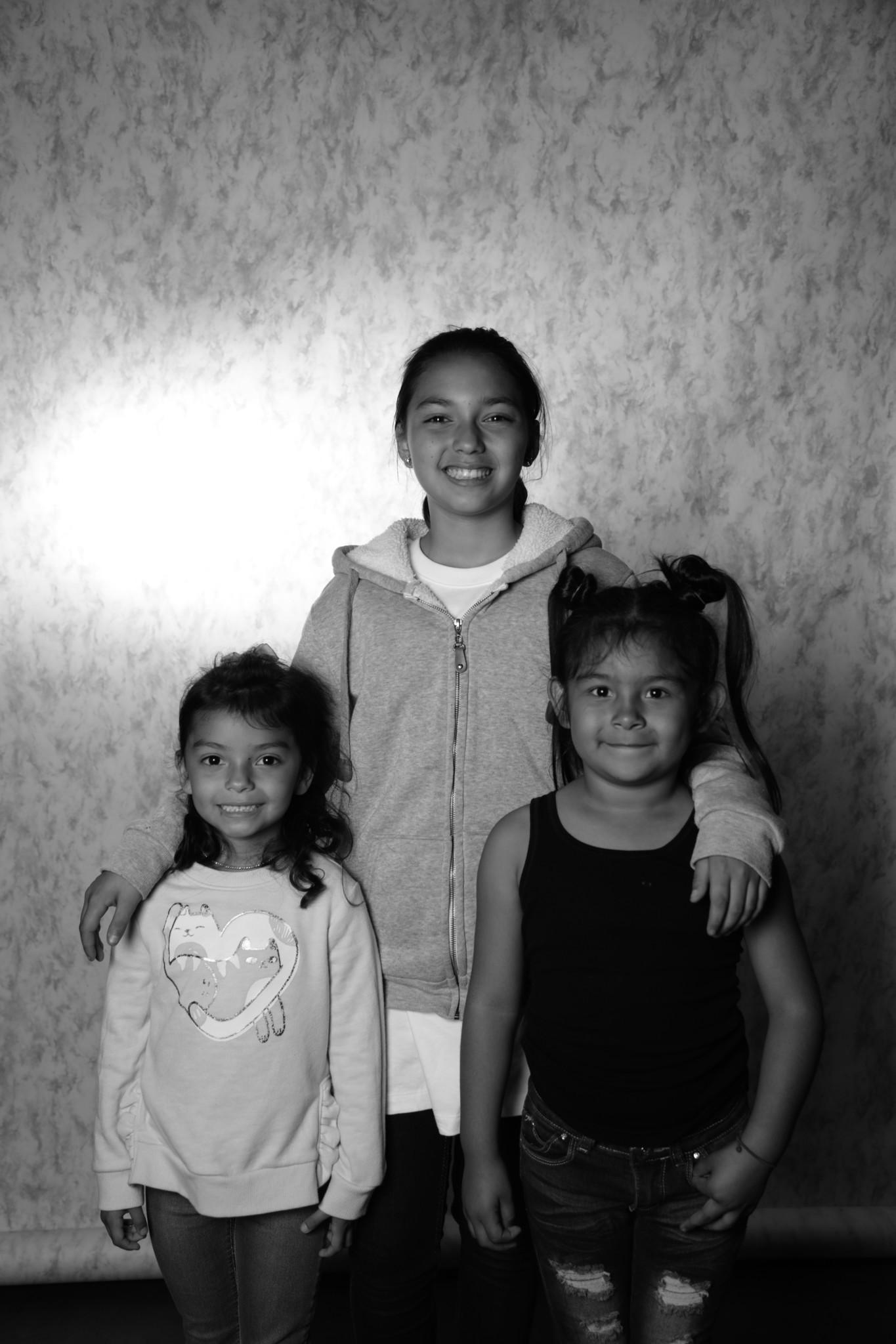 Allisson Maldonado, center, with Hayley Maldonado, left, and Grecia Flores, right.