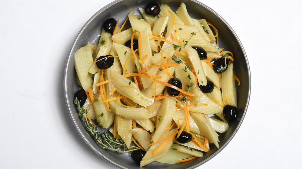 Cardoons With Sicilian Olive Vinaigrette