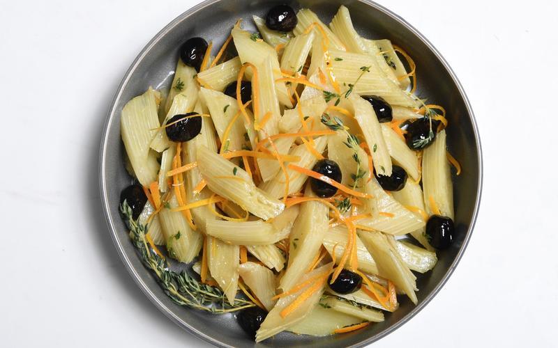 Cardoons With Sicilian Olive Vinaigrette