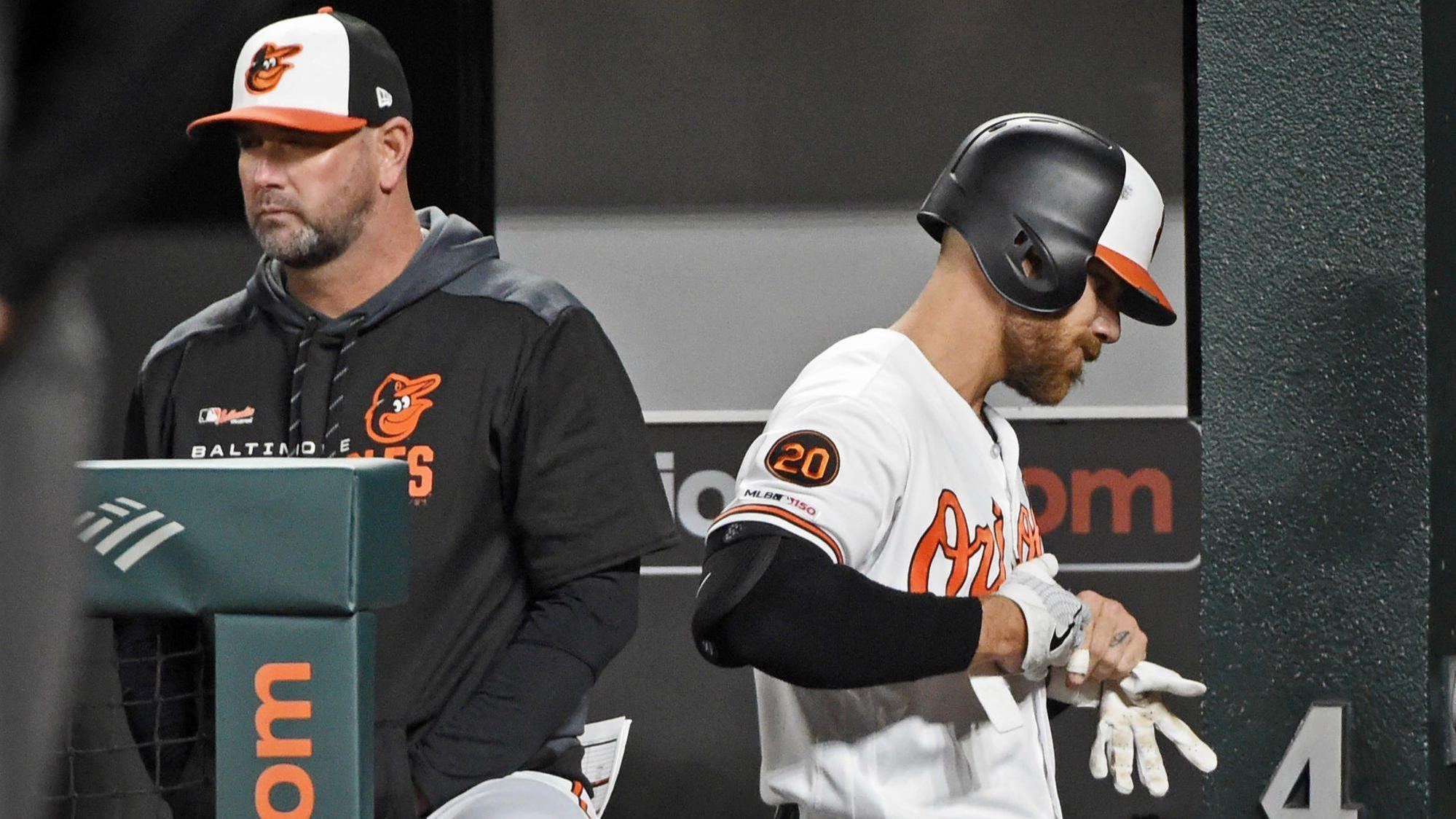 22228a96d Orioles  Chris Davis comes off bench for another record-setting at-bat —  and he s still hitless