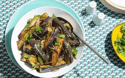 Hasiba's Honeyed Marinated Eggplant