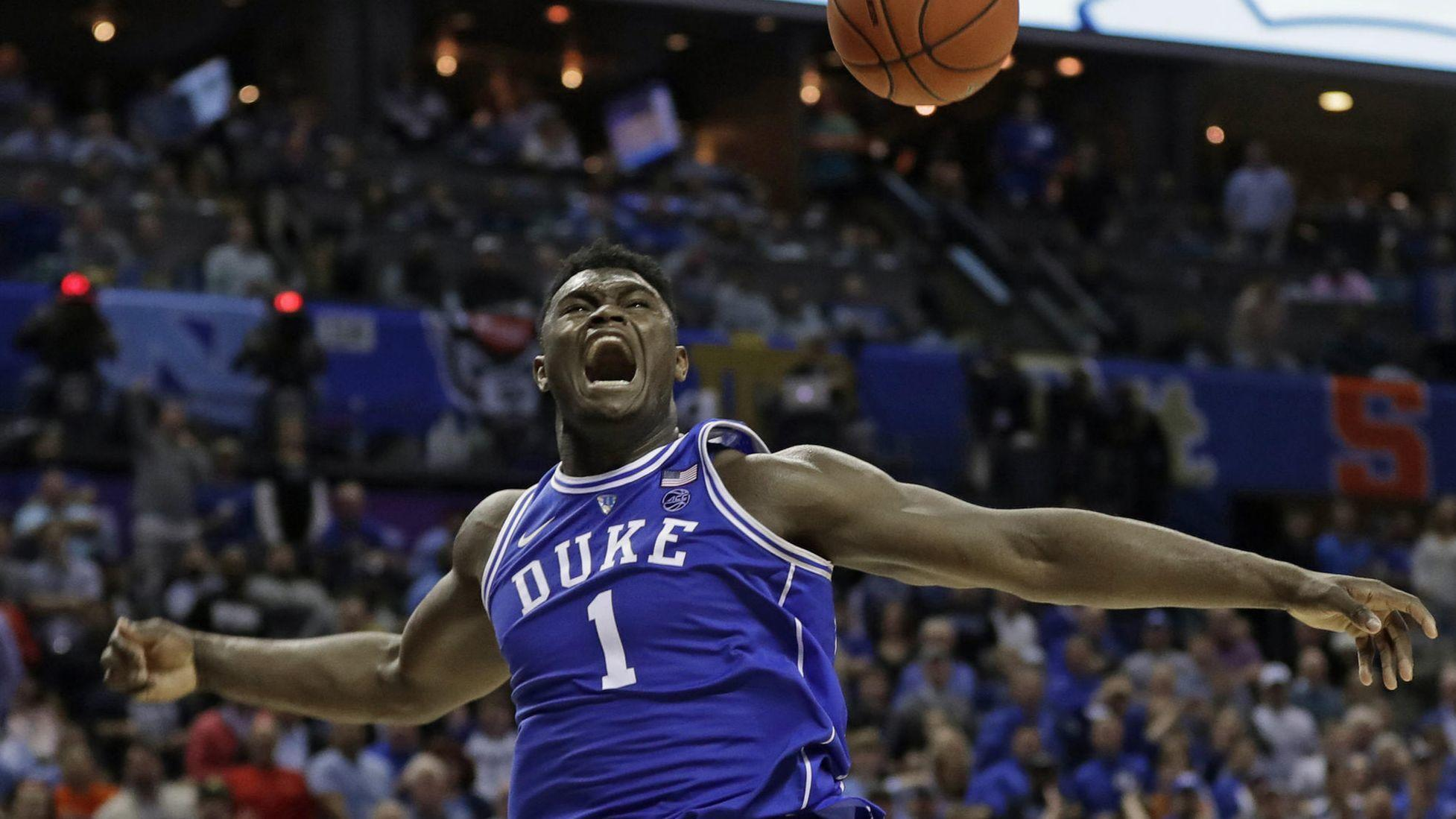 Zion Williamson declares for the NBA draft after 1 year at ...