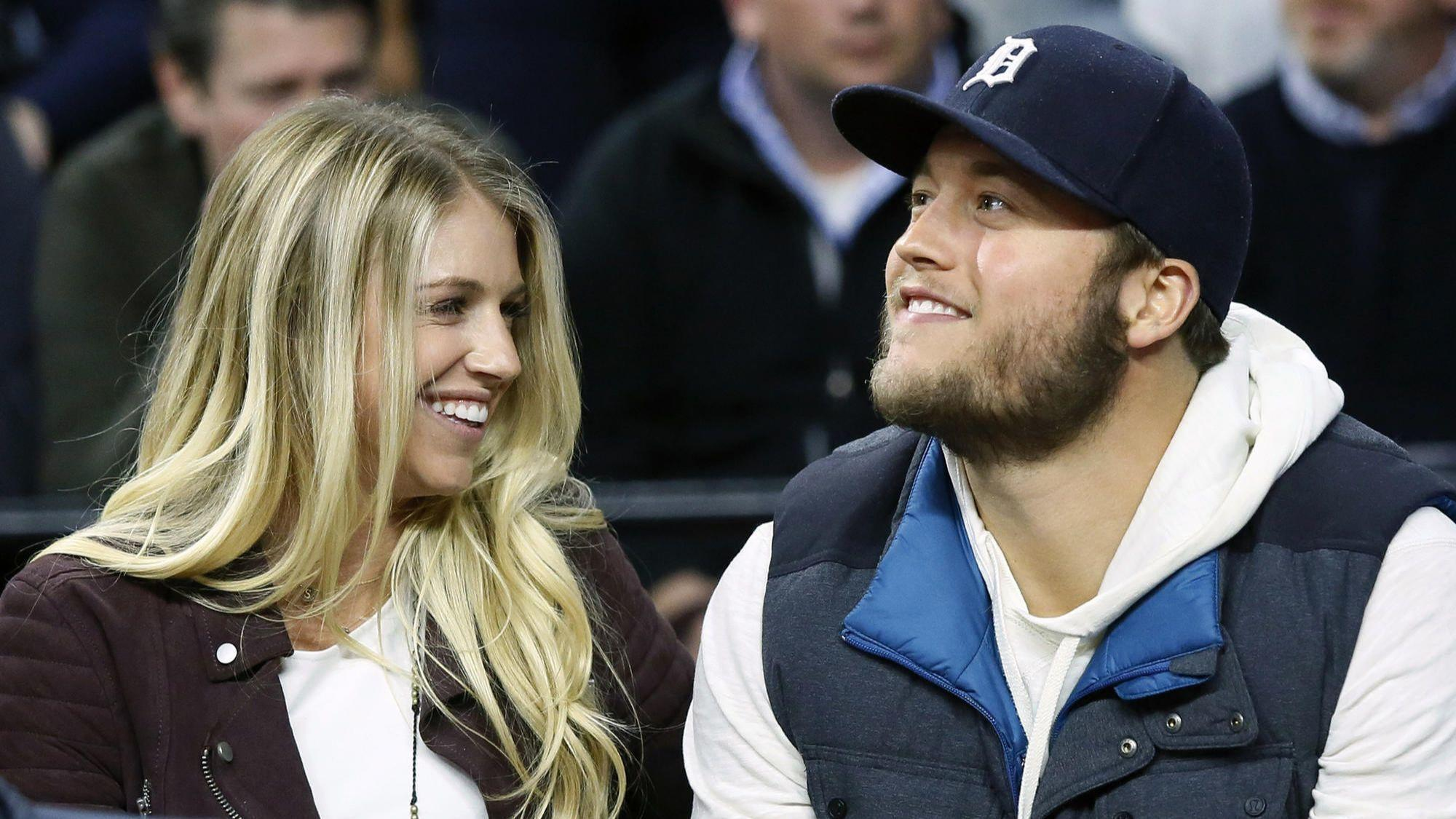 Lions QB Matthew Stafford sits out workout as wife has brain tumor