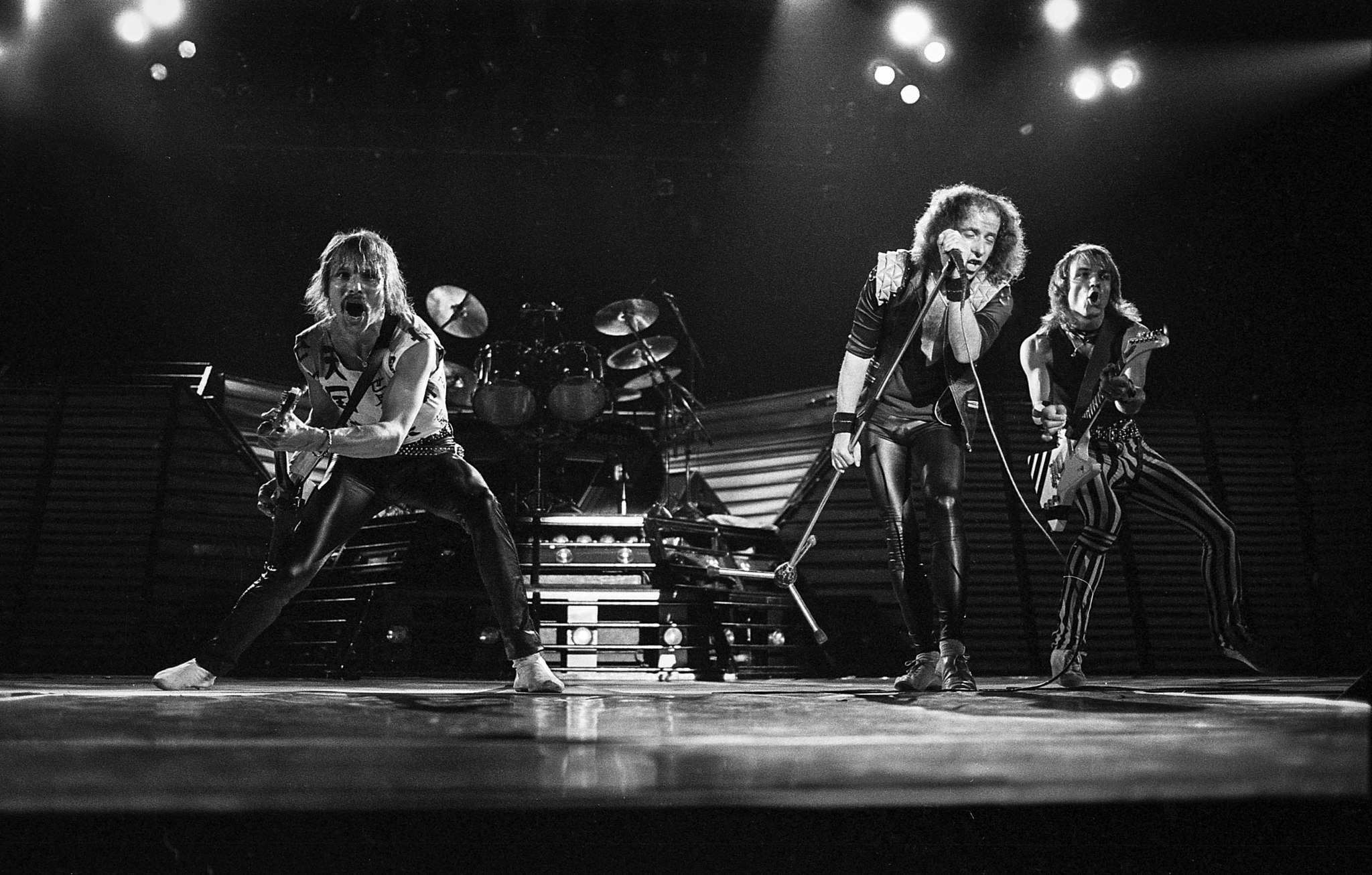 April 25, 1984: The Scorpions in concert at the Forum in Inglewood. This photo is from the Los Angel