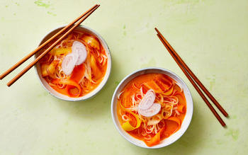 Rainbow Curry Rice Noodles