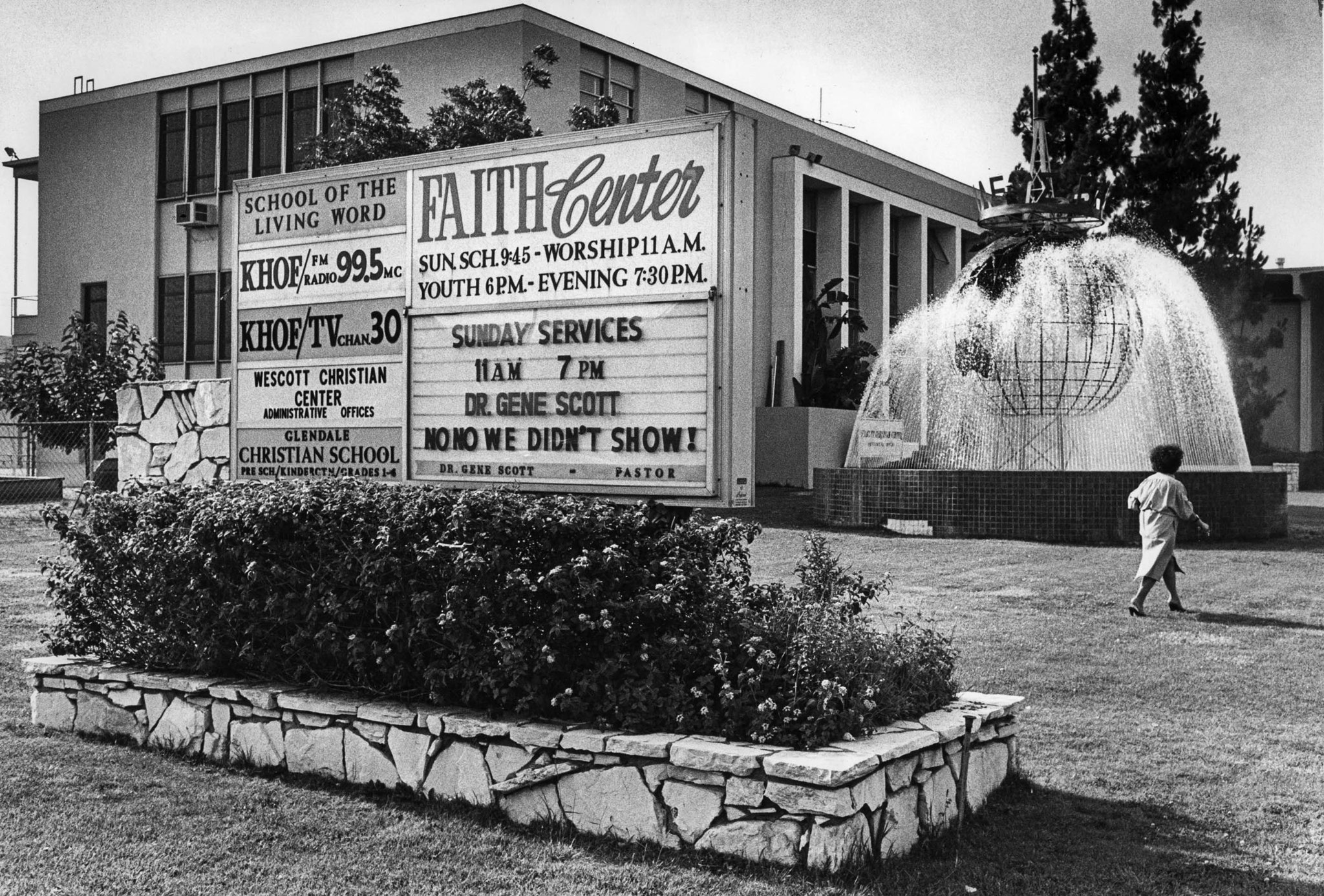 July 13, 1980: The exterior of Gene Scott's Faith Center church complex in Glendale. This phot