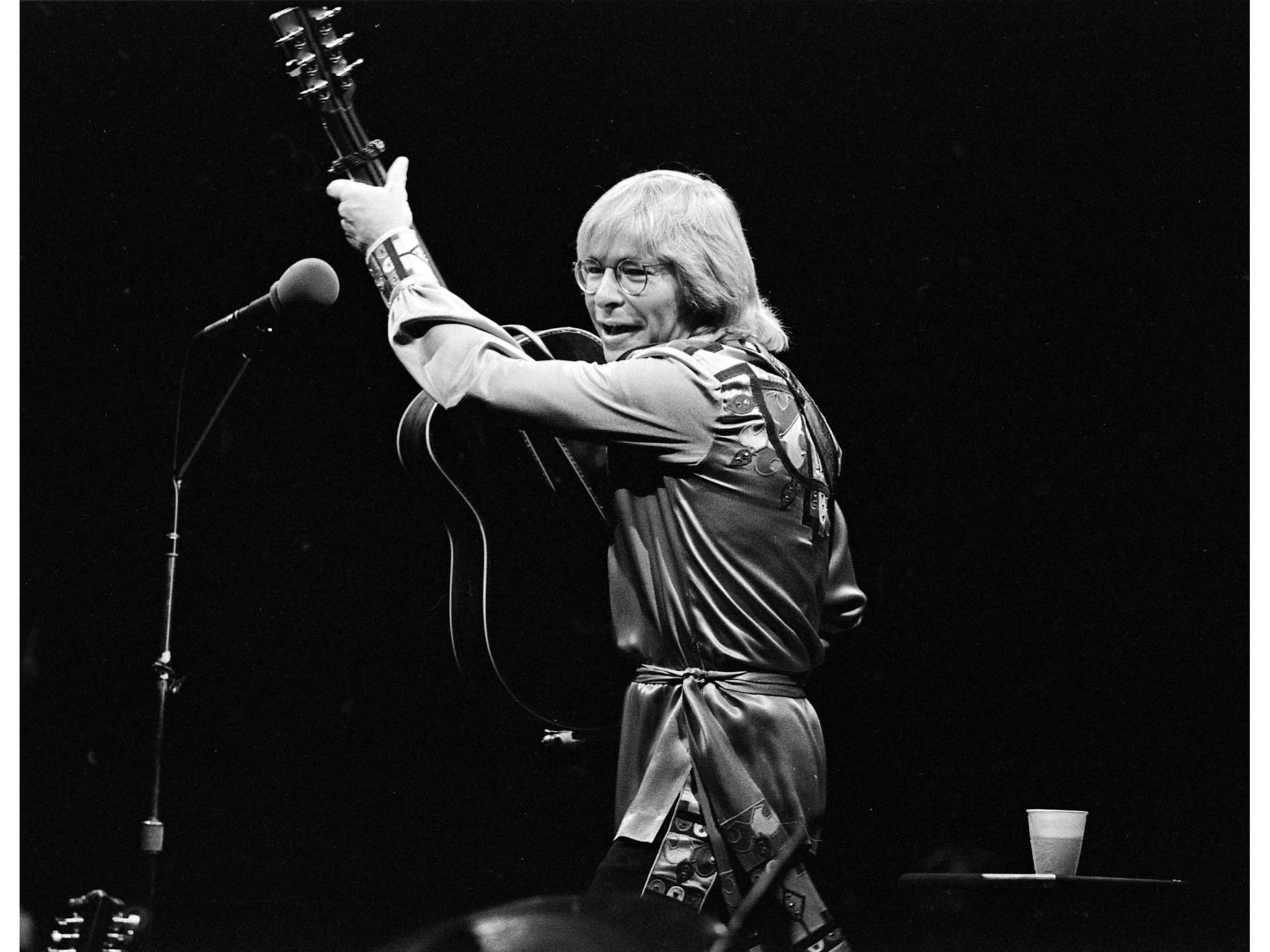 May 15, 1978: John Denver in concert at the Forum. This image is from the Los Angeles Times Archive