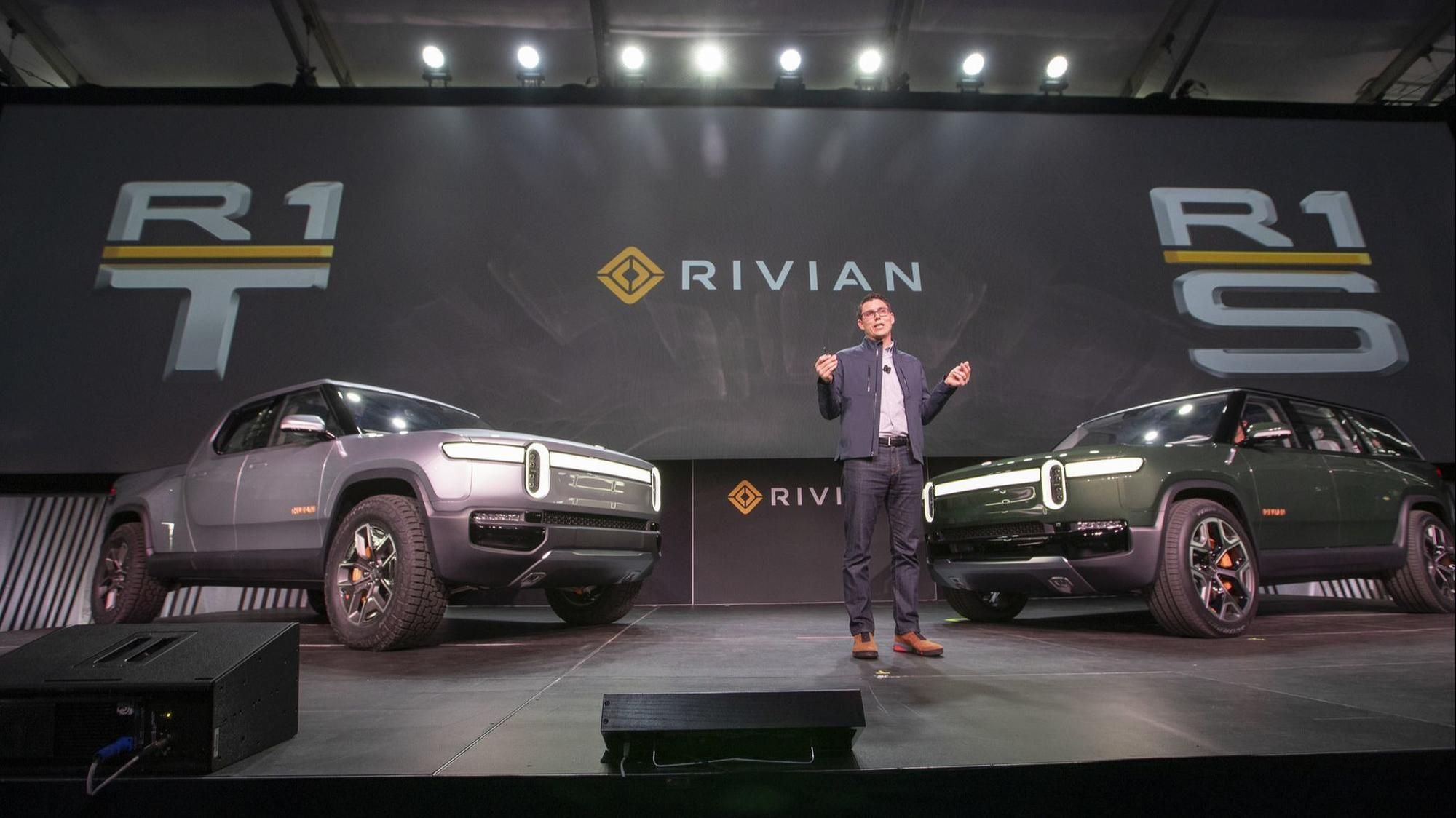 Ford joins Amazon with a big investment in electric truck maker Rivian