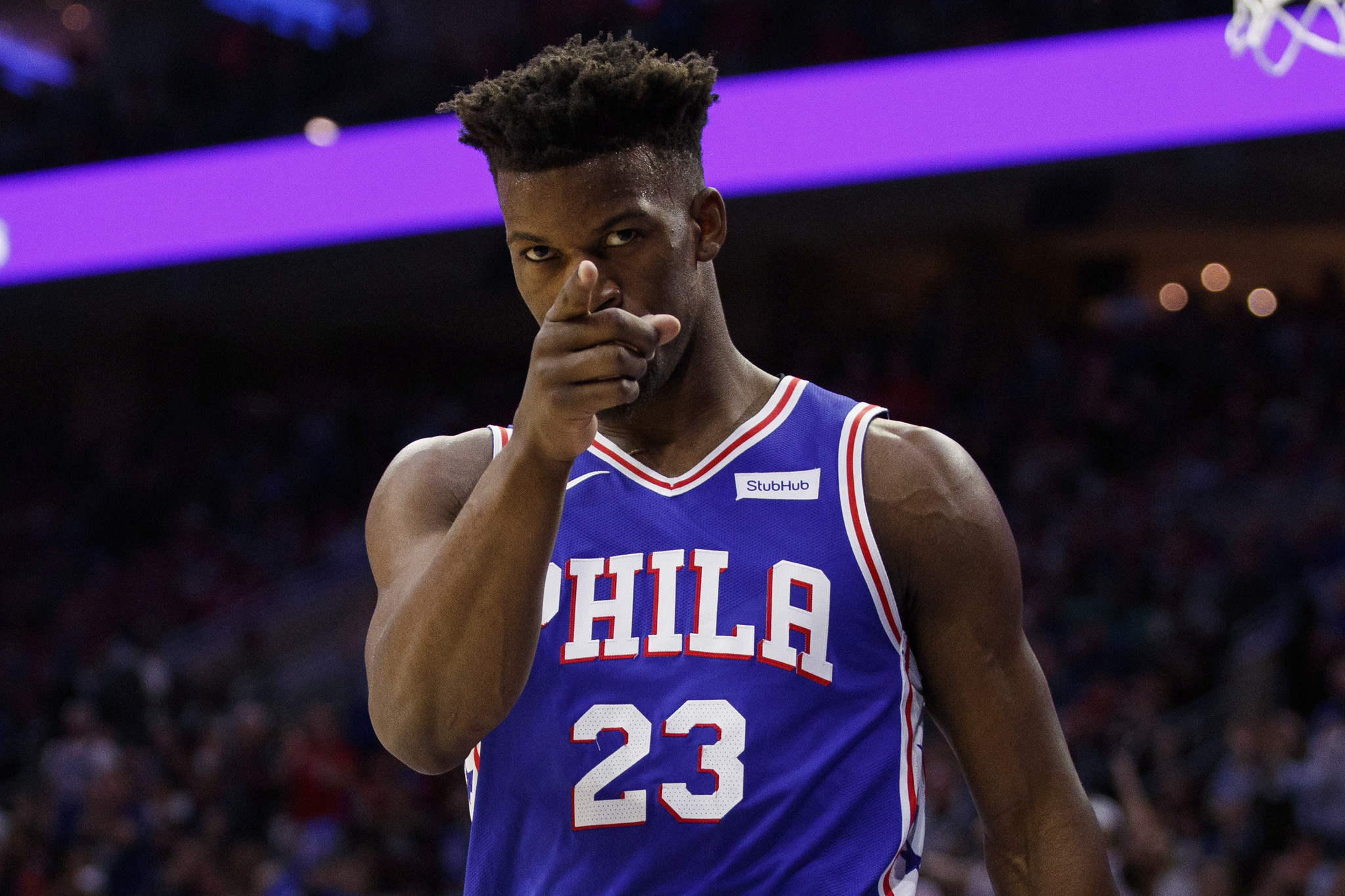4908f2b21fe ... 2019 Jimmy Butler powers Sixers to Game 2 win over Raptors Baltimore  Sun - 22 56 PM ET April 29