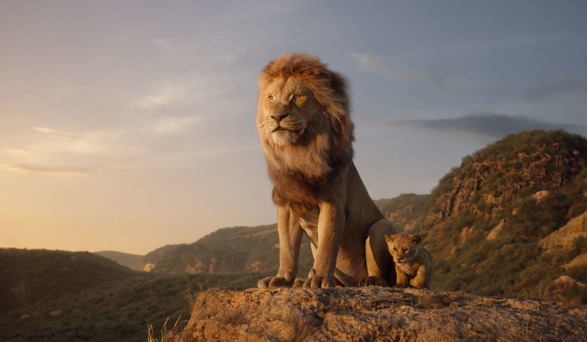 """""""The Lion King,"""" directed by Jon Favreau and featuring the voices of James Earl Jones as Mufasa and JD McCrary as Young Simba."""