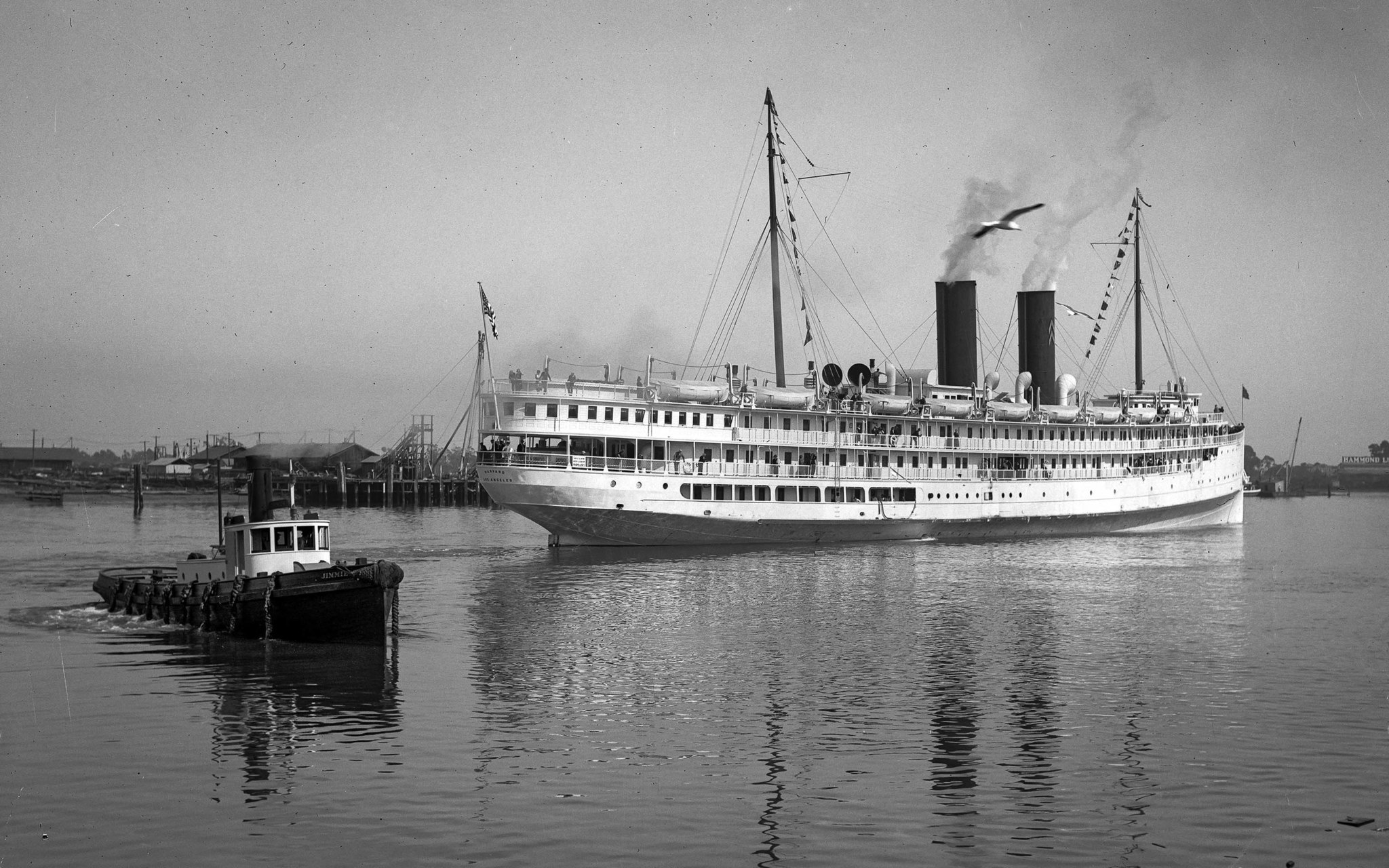 Aug. 5, 1921: The S.S. Harvard steams out of Los Angeles Harbor bound for San Francisco for its firs