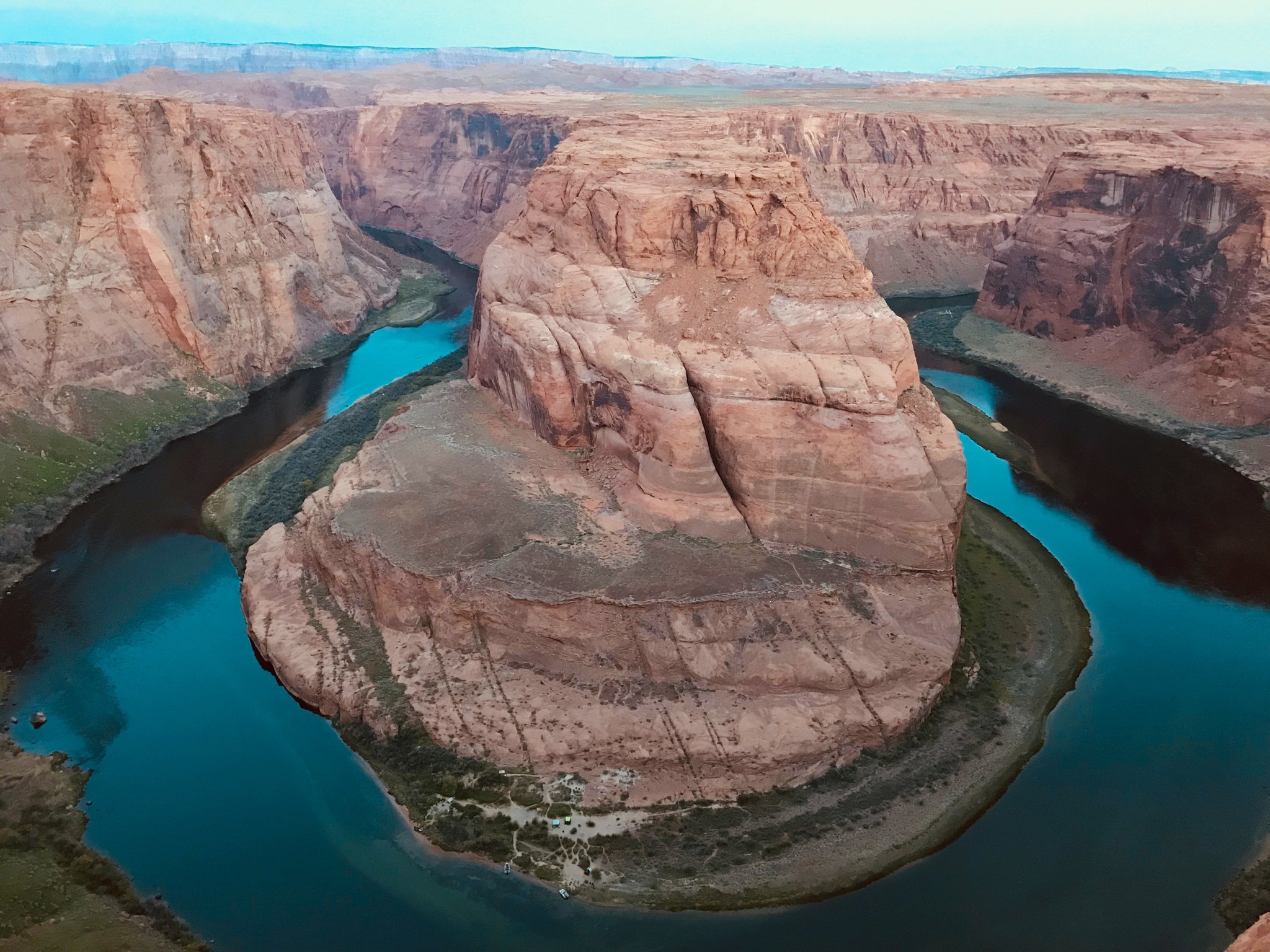 Here's Glen Canyon, where the Colorado River gets dammed, bent and Instagrammed