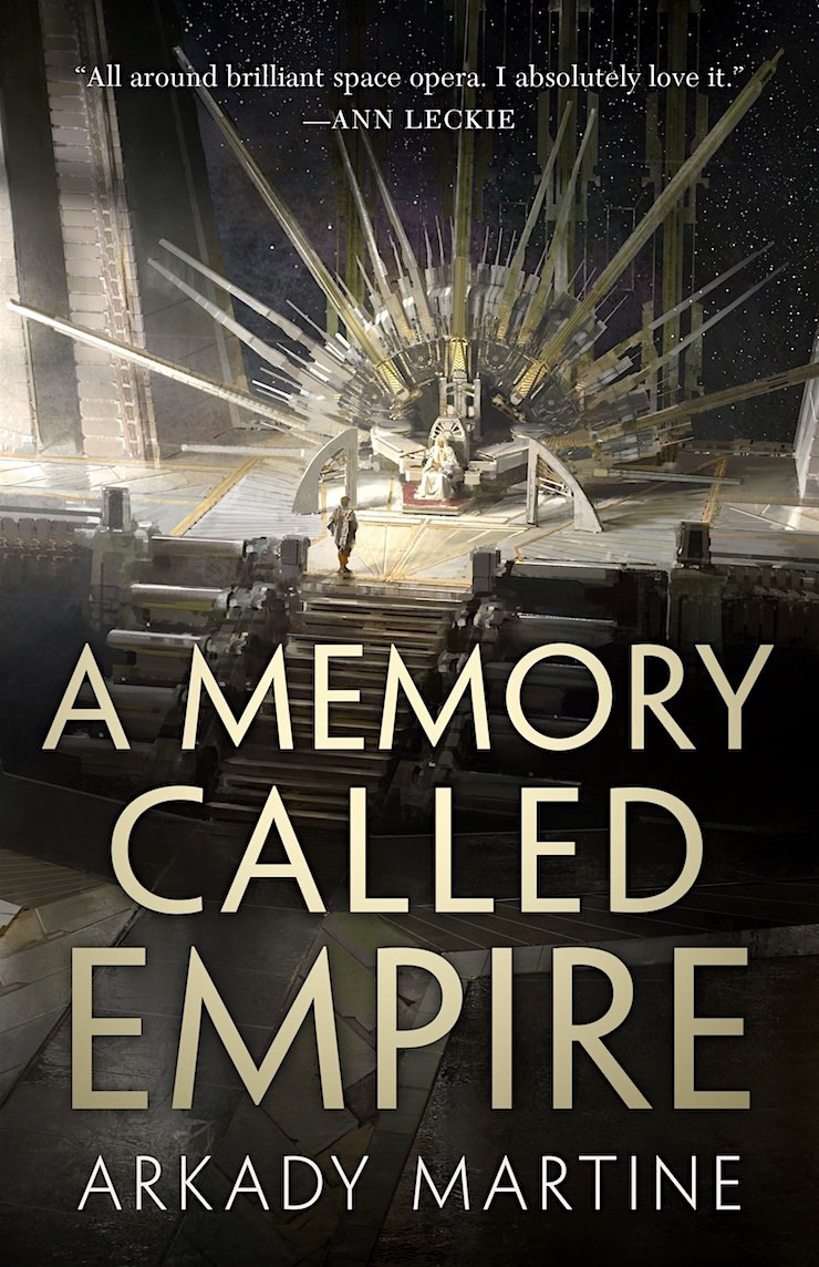 "A book jacket for Arkady Martine's ""A Memory Called Empire."""