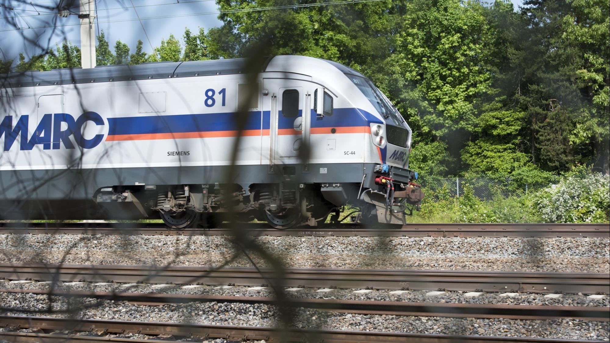 Train strikes pedestrian on MARC Penn Line in Odenton