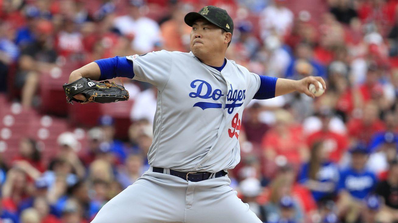 Hyun-Jin Ryu's scoreless innings streak at 31 after Dodgers top Reds