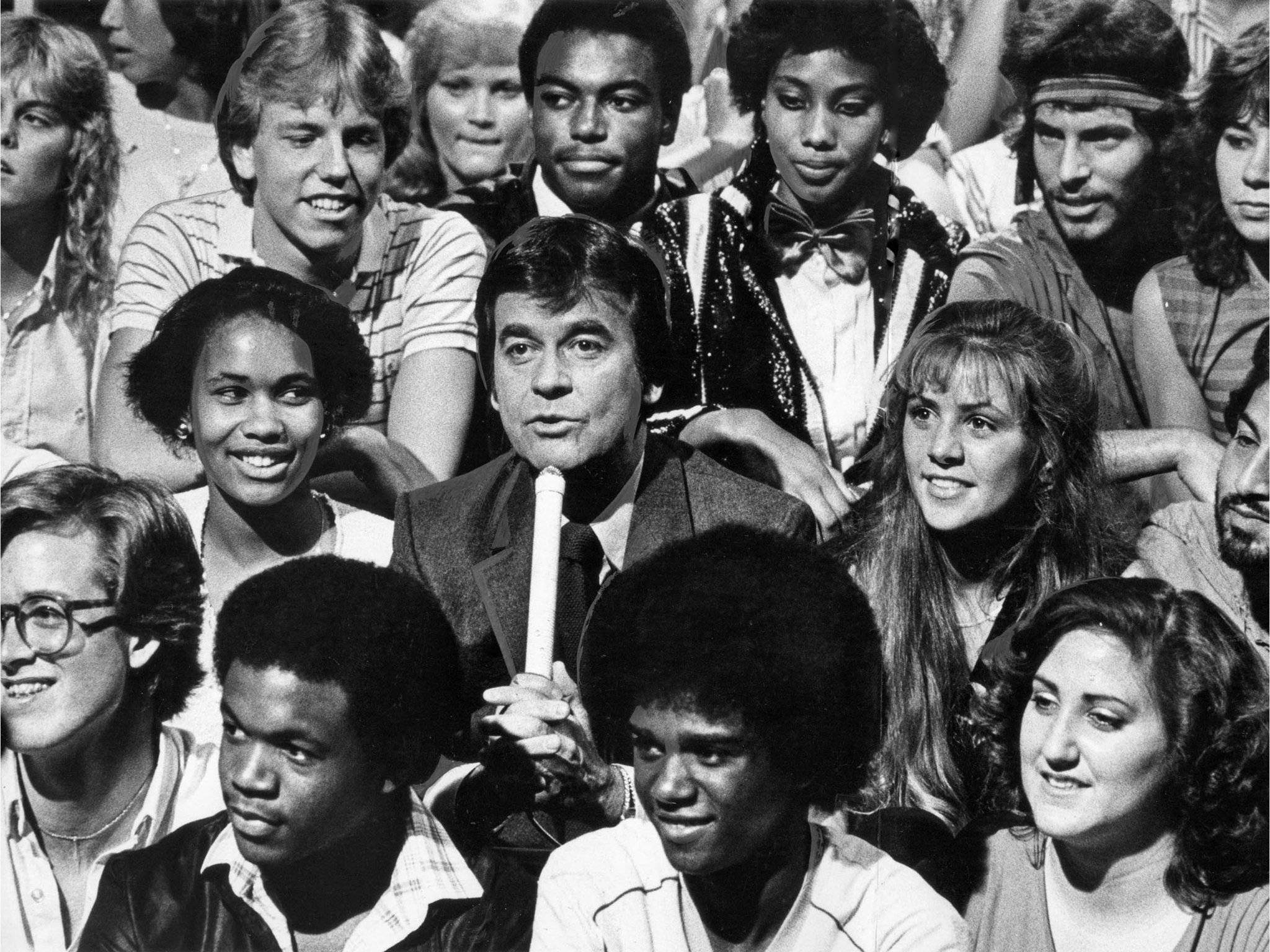 May 16, 1981: Dick Clark sits with the audience while introducing acts on