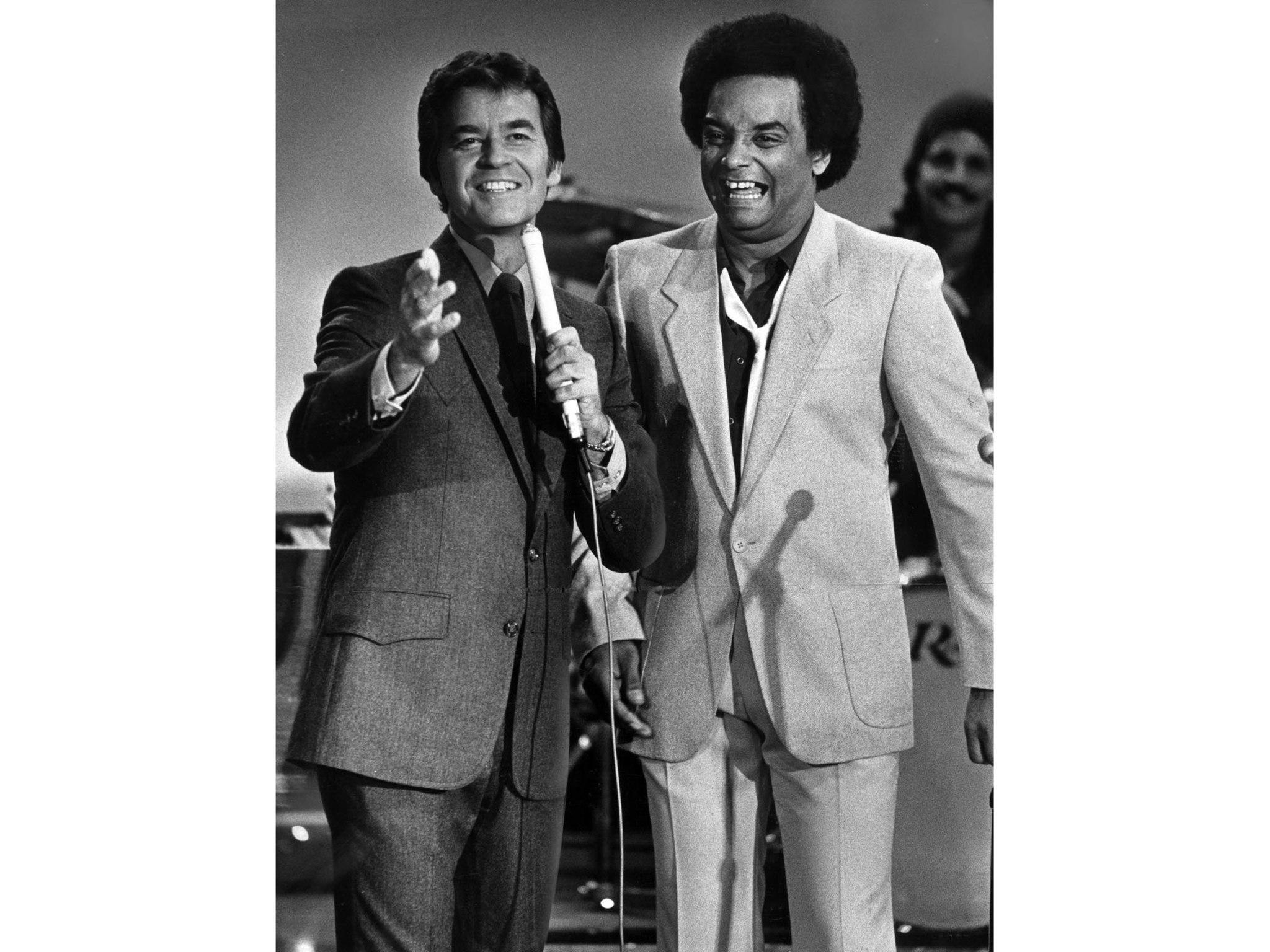 May 16, 1981: Dick Clark with rocker Gary U.S. Bonds, singer of 1961 hit