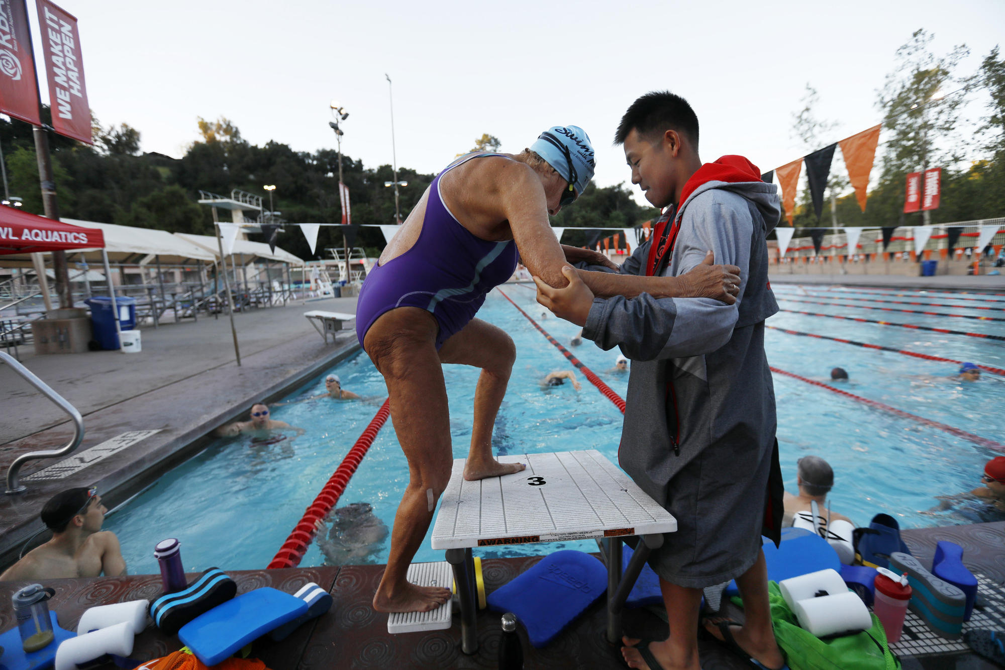 Late to the pool, 97-year-old swimming champion has since