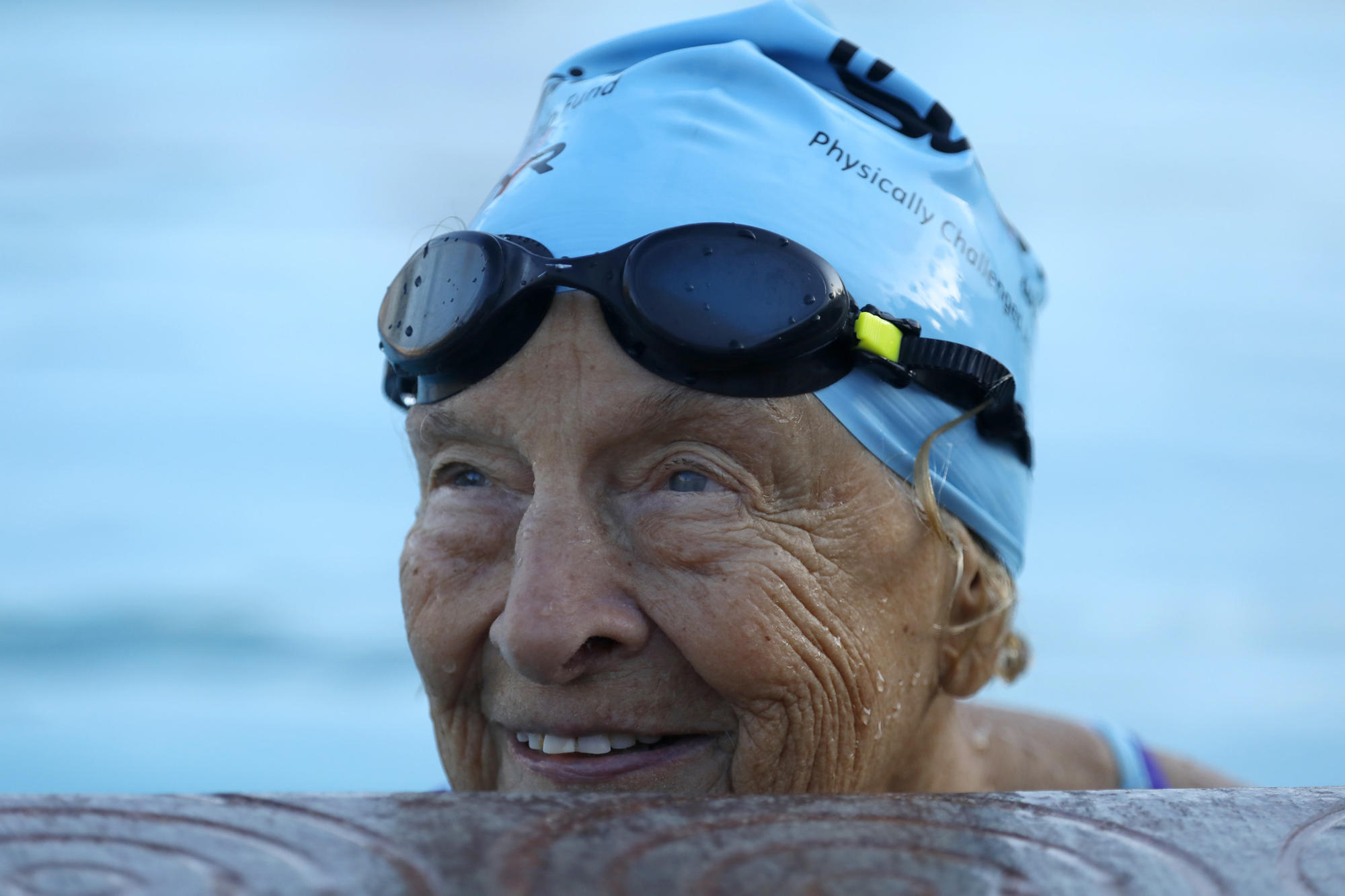 She's a swimming champion at 97