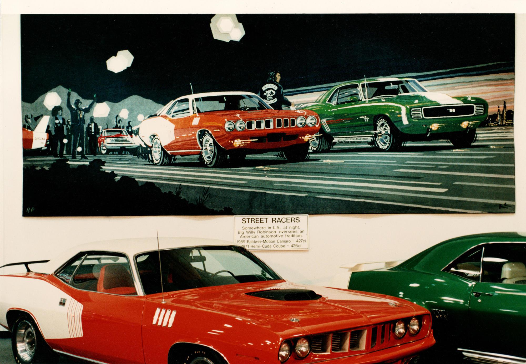 'Street Racers' tapestry