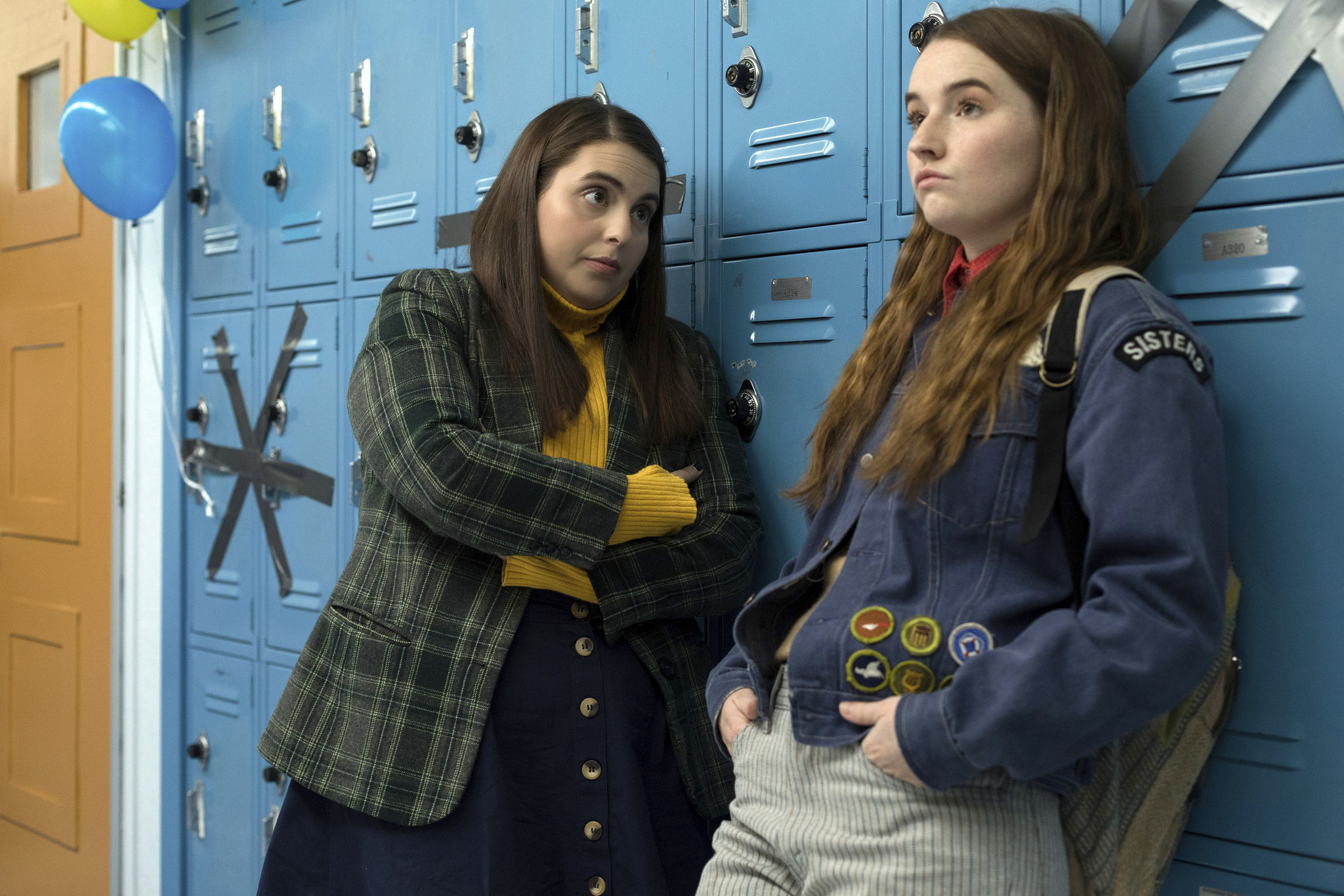 "Beanie Feldstein, left, and Kaitlyn Dever in a scene from the film ""Booksmart,"" directed by Olivia Wilde."