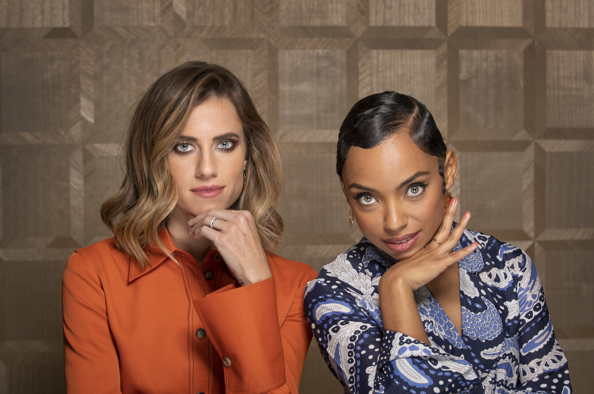 "Logan Browning, right, and Allison Williams, stars of Netflix's ""The Perfection,"" at the London West Hollywood."