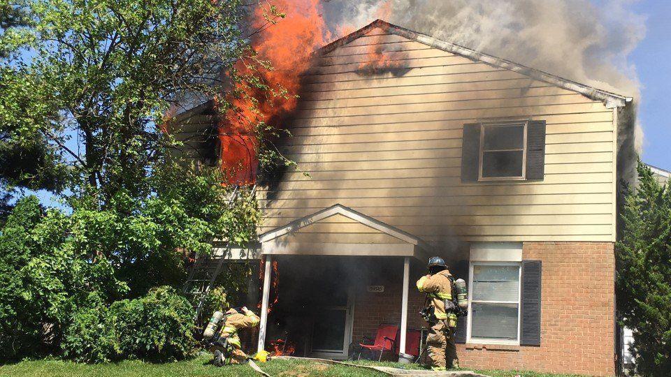 House fire in Glen burnie sends firefighter to burn center, displaced seven