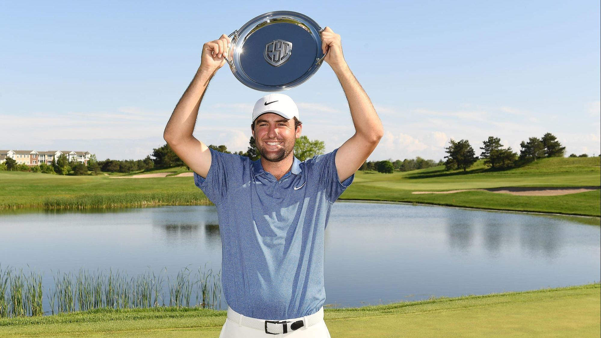 Rising star Scottie Scheffler wins the Evans Scholars Invitational at the Glen Club in a playoff after a closing 63