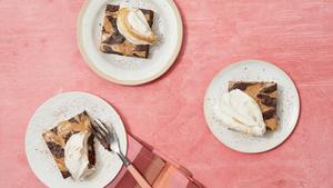 Gluten-Free Buckwheat Brownies With Tahini Whipped Cream