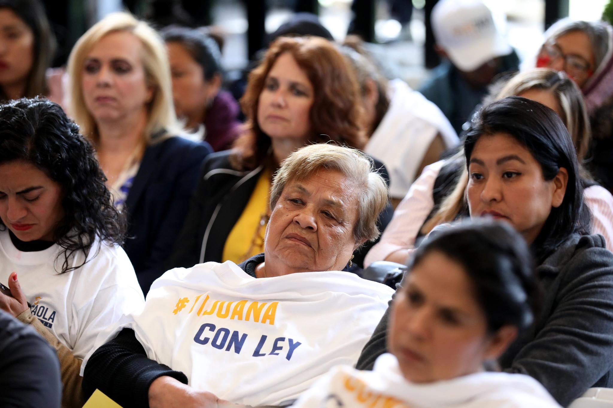 TIJUANA, BAJA CALIF. -- THURSDAY, MAY 16, 2019: Women attend a forum to listen to Juli‡n Leyzaola, P
