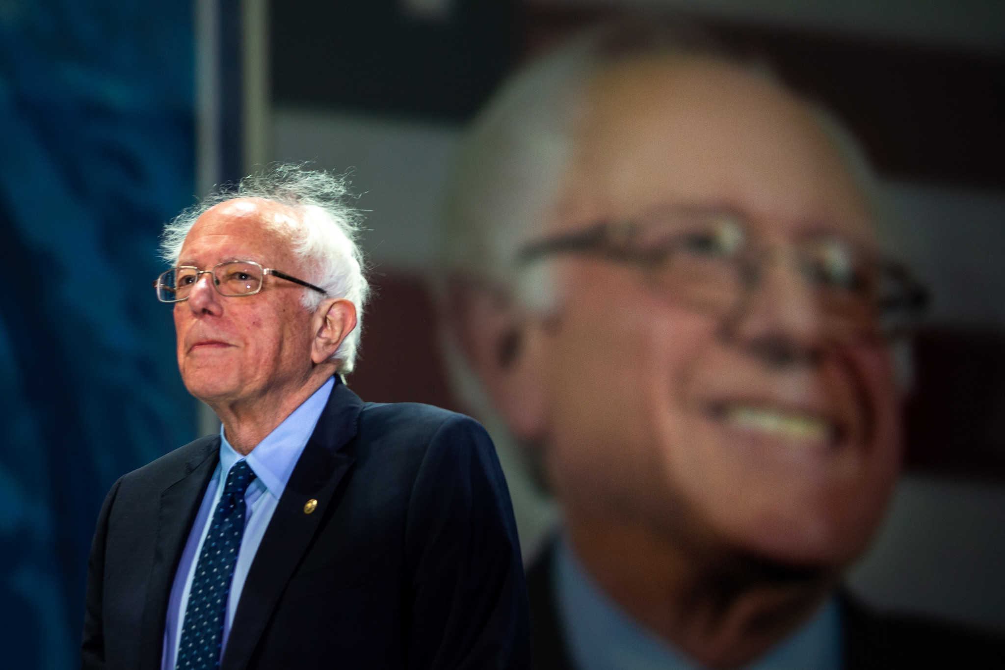 SAN FRANCISCO, CALIF. - JUNE 02: Sen. Bernie Sanders takes to the stage to address the 2019 Californ