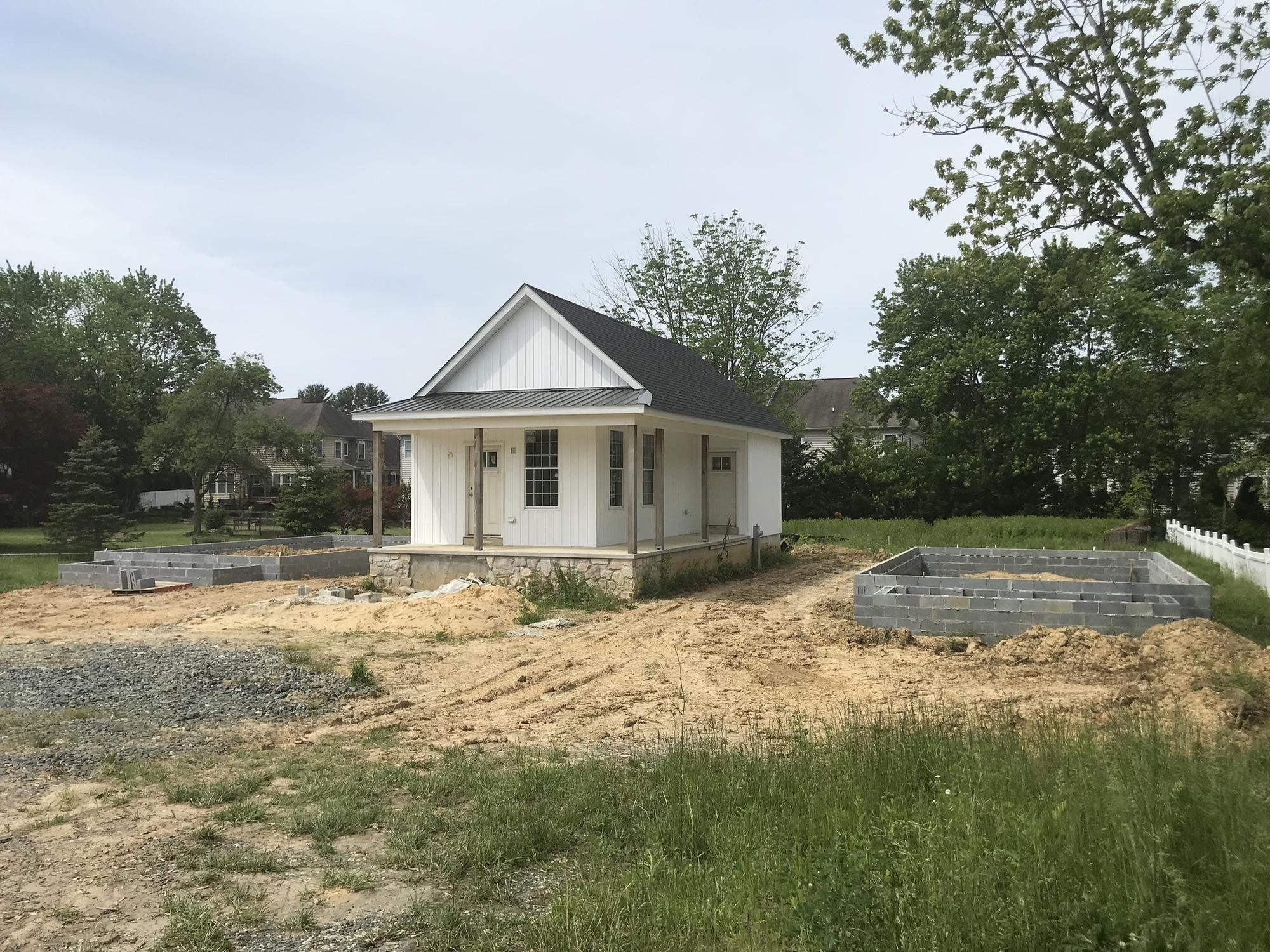 Image result for Construction begins on second, third tiny houses in Bel Air, as first nears completion