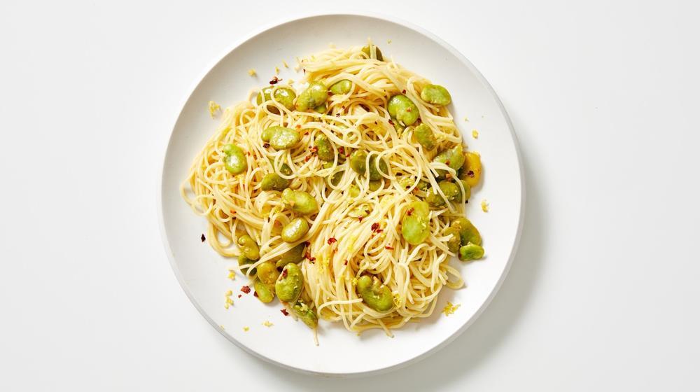 Fava Bean Scampi
