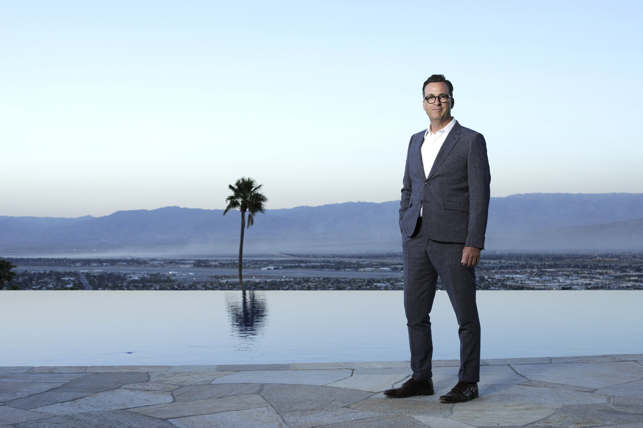 PALM SPRINGS, CA — APRIL 30, 2019: Tim Gleason is the project manager of the Bob Hope house in Palm