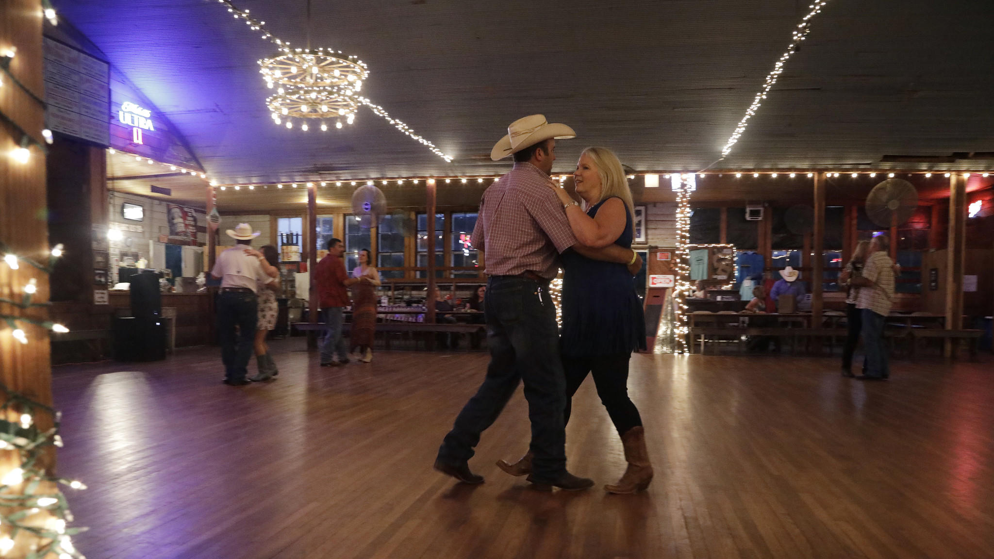 Two-step dancing at Twin Sisters Dance Hall
