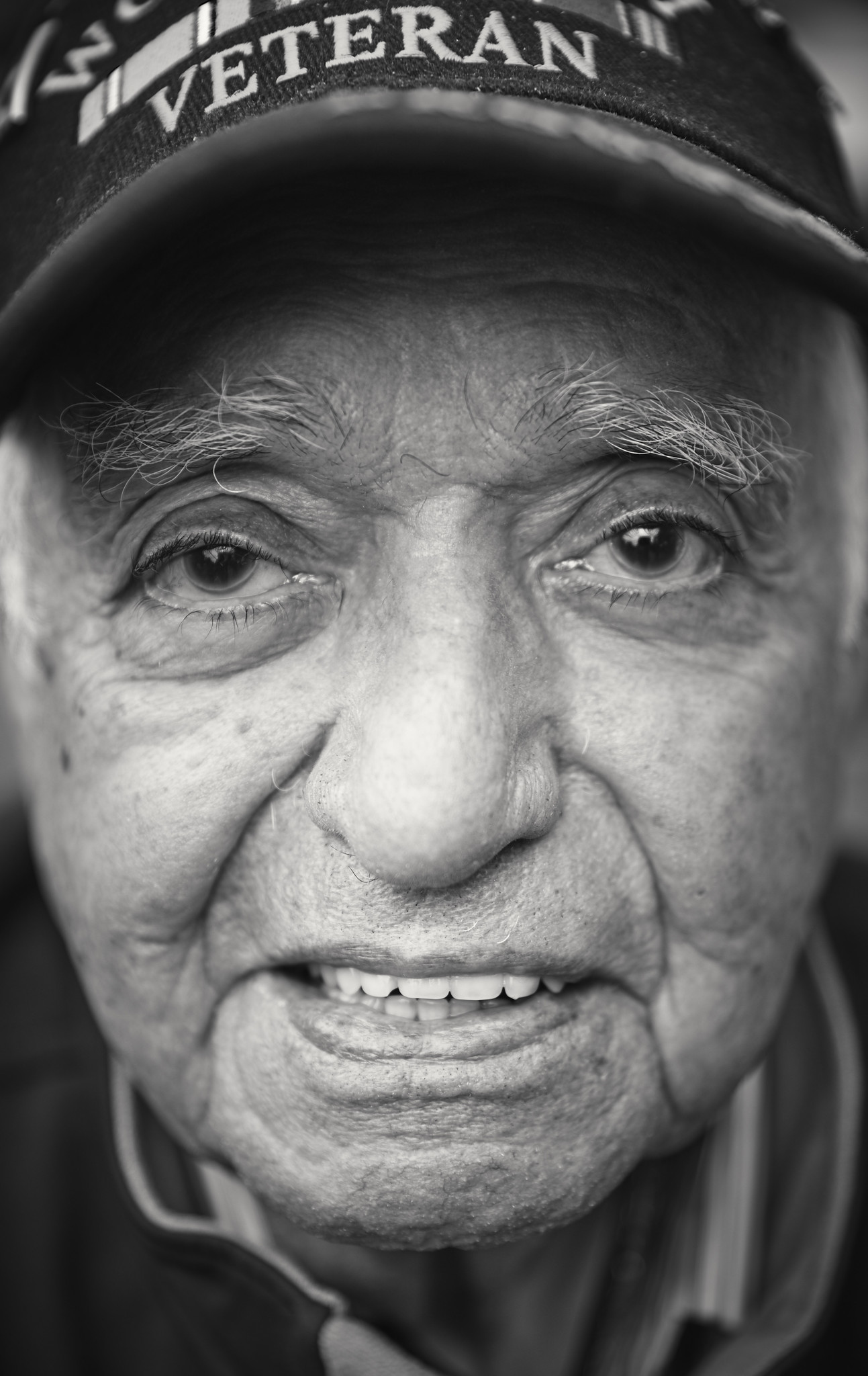 D-DAY VETERANS, FRANCE - MAY 23: Fernando Torres (97 yrs old), 17th Signal Battalion A Company, at t