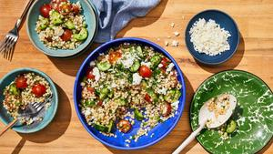 Summer Salad with Israeli Couscous