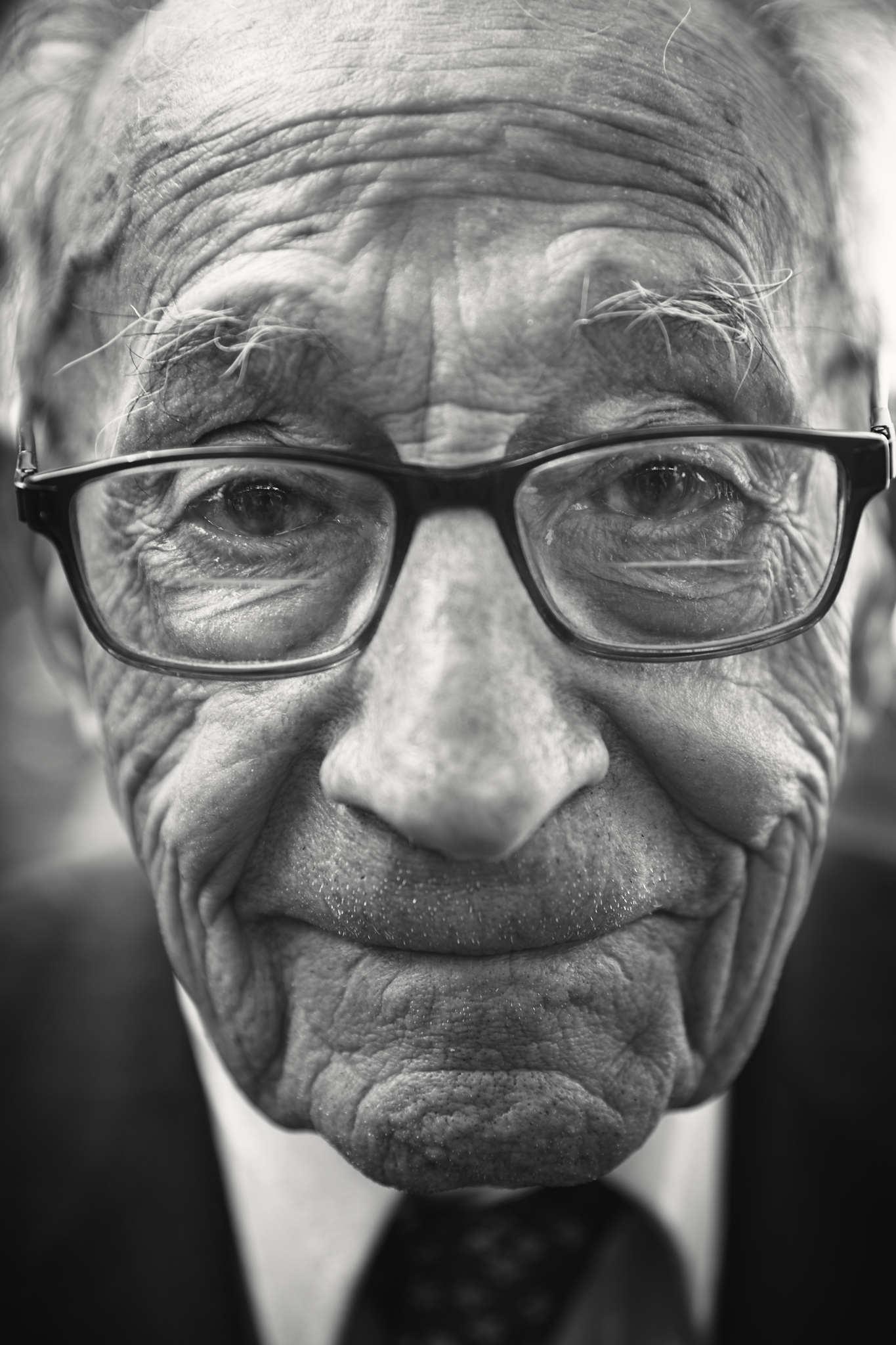 D-DAY VETERANS, FRANCE - JUNE 6: Joe Schida (97 yrs old), from Pennsylvania, a member of the Amphibi
