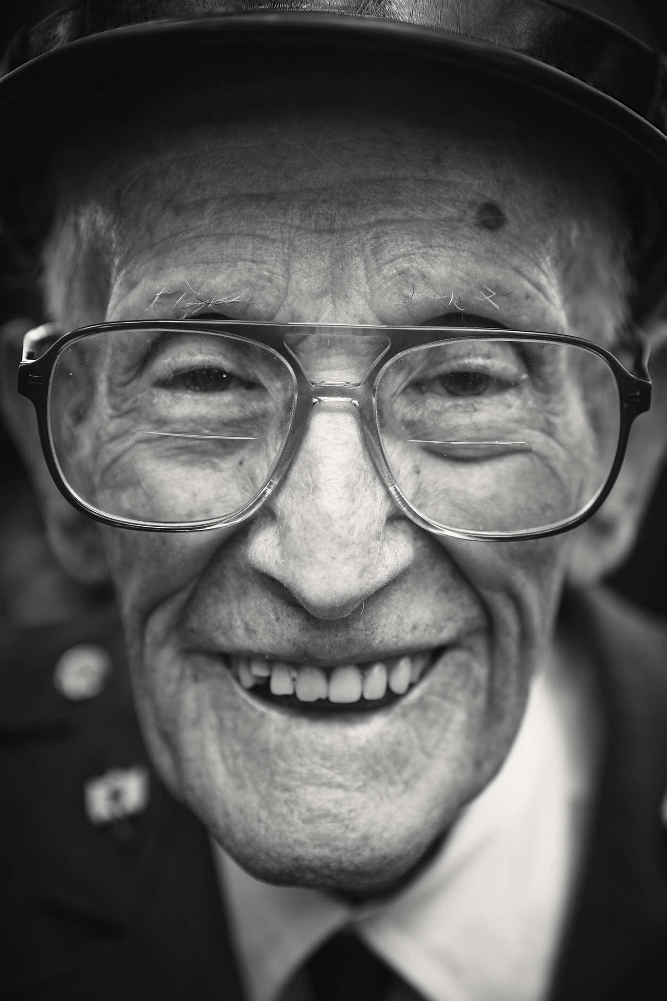 D-DAY VETERANS, FRANCE - JUNE 6: Floyd Wingate (100 yrs old), from Maryland, a former member of the