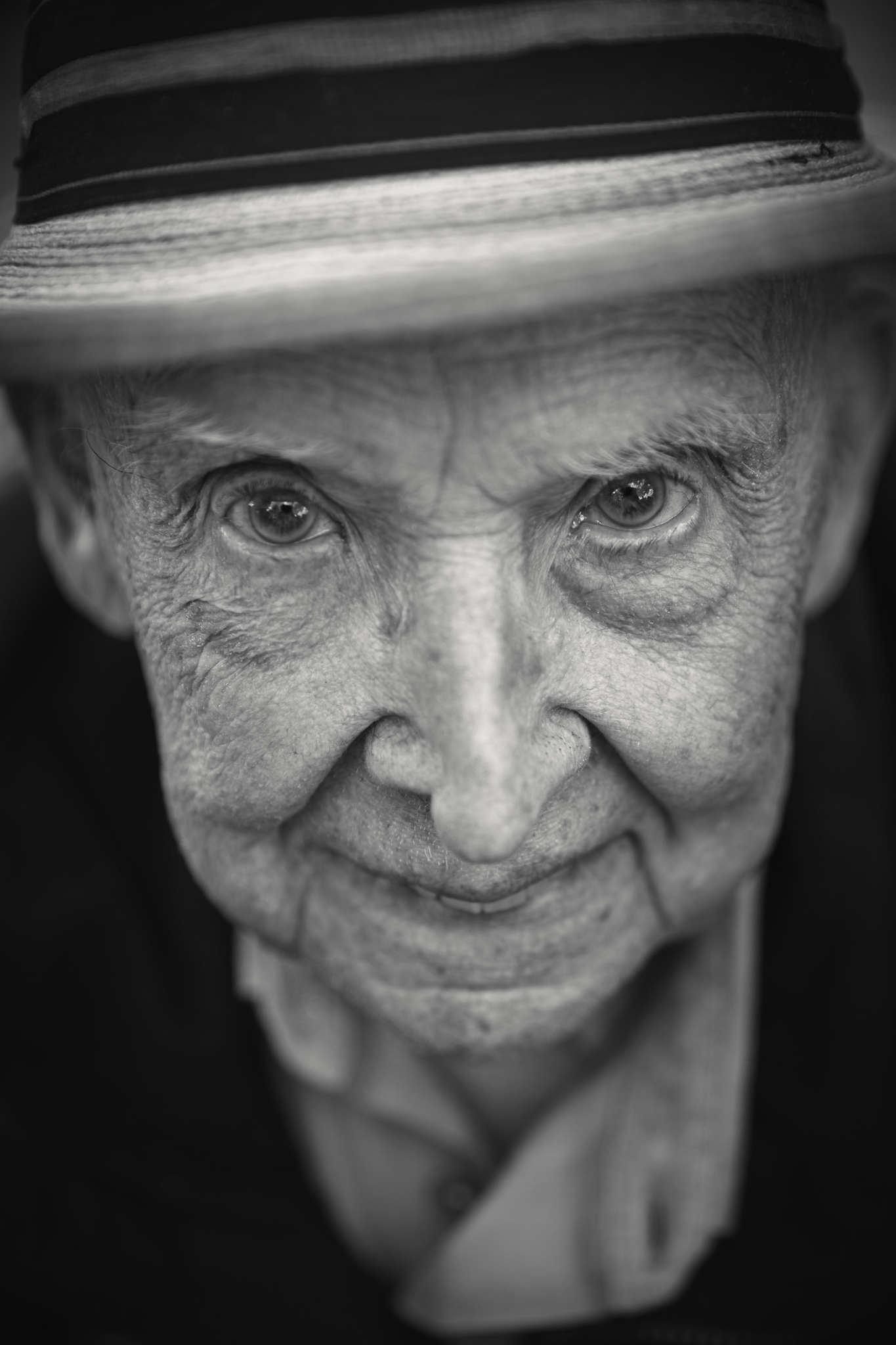 D-DAY VETERANS, FRANCE - JUNE 6: Jake Larson (96 yrs old), from Martinez in California, a member of