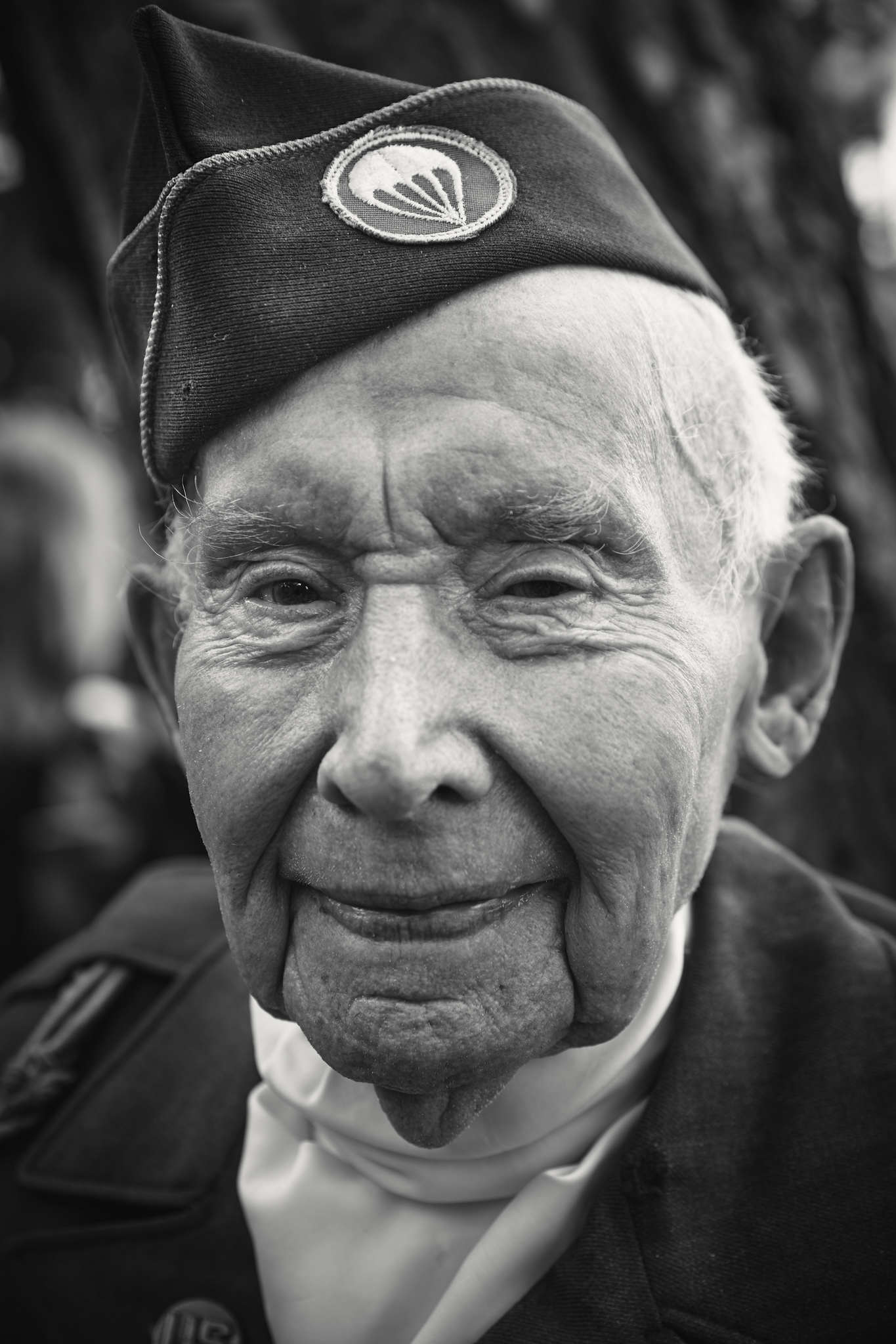 D-DAY VETERANS, FRANCE - JUNE 6: Joe Reily (98 yrs old), a member of the 101st Airbourne 501 divisio