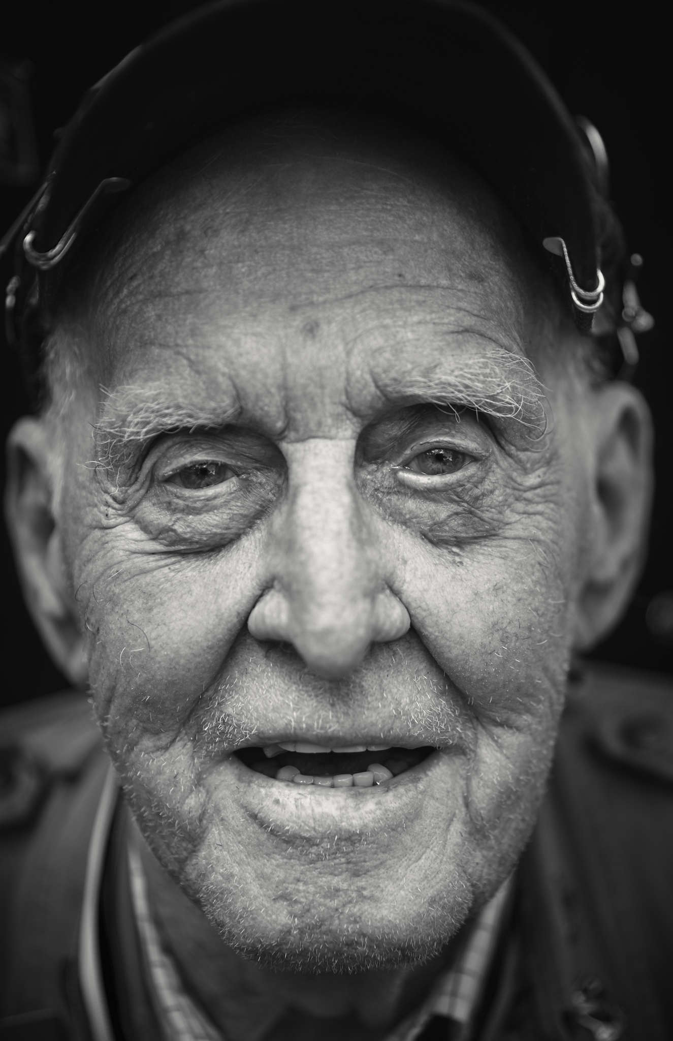 D-DAY VETERANS, FRANCE - JUNE 6: Ernie Lamson (97 yrs old), from Minnesota, photographed at the Amer