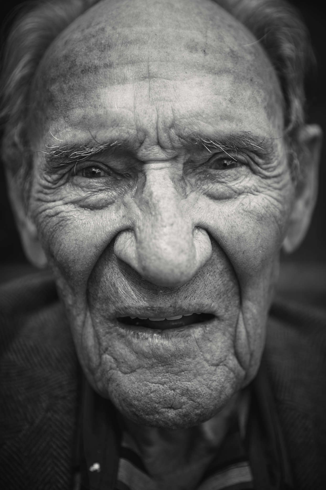 D-DAY VETERANS, FRANCE - JUNE 6: Willard LaCounte (96 yrs old), from Montana, a former member of the
