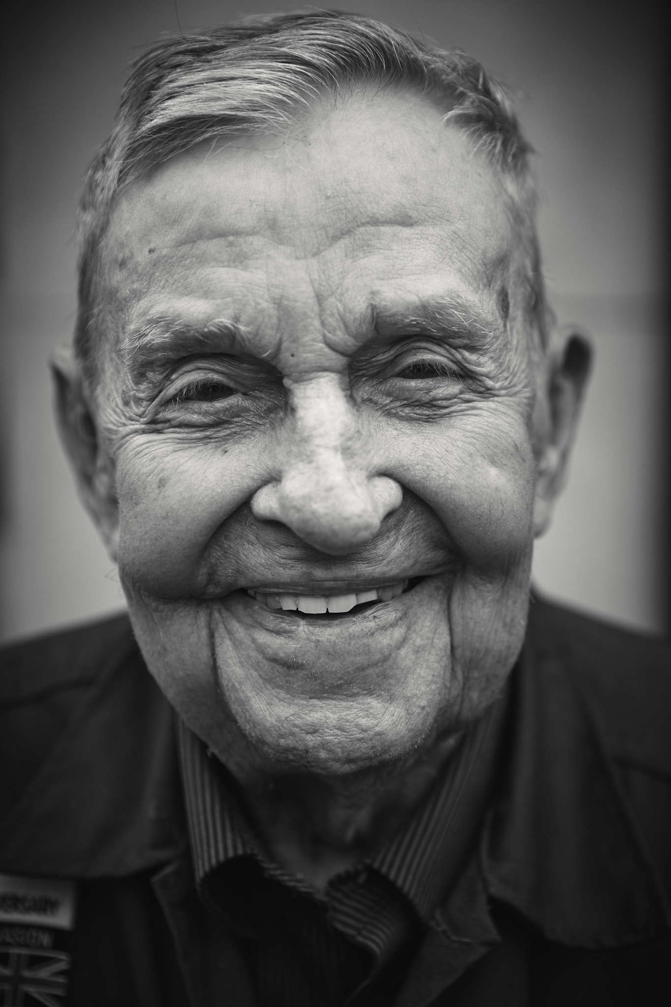 D-DAY VETERANS, FRANCE - JUNE 5: K.T Robbins (98 yrs old), from Mississippi, a former member of the