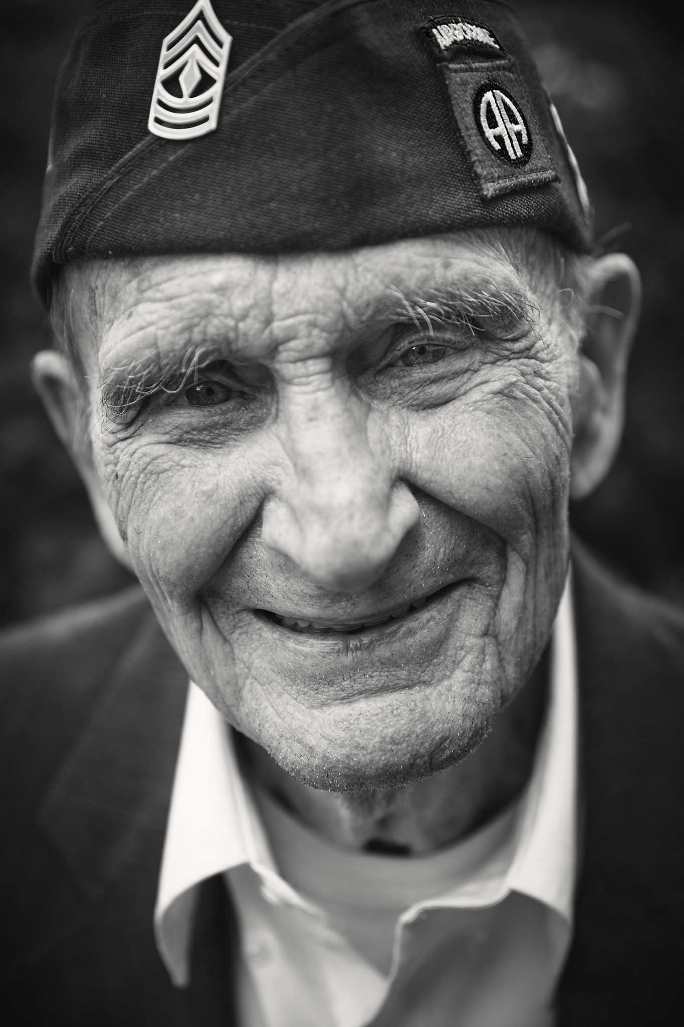 D-DAY VETERANS, FRANCE - JUNE 6: Clifford Stump (95 yrs old), from Texas, a former member of the 82