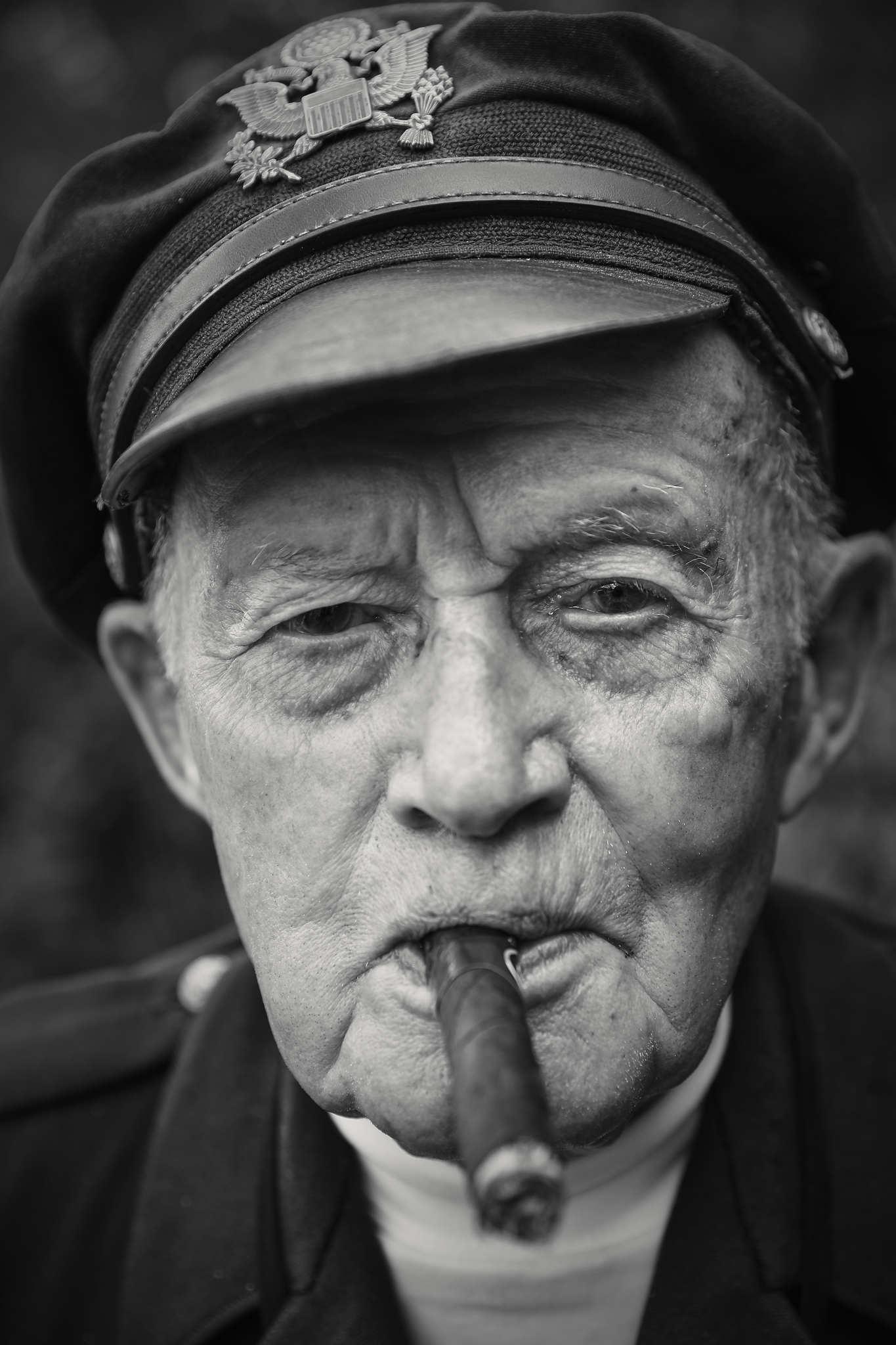 D-DAY VETERANS, FRANCE - JUNE 5: Dennis Thompson (96 yrs old), a former B-24 and B-17 bomber pilot,