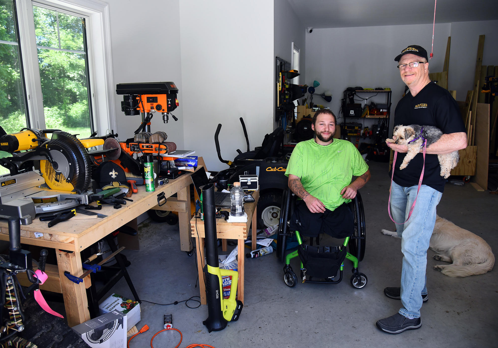 Something to build on: Faces of Valor event honors wounded vet by building him a workshop