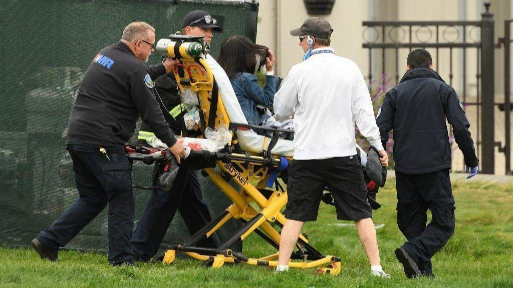 Runaway golf cart hits 5 people near 16th hole at U.S. Open