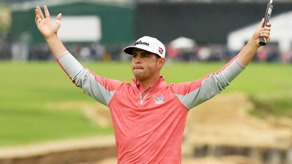 Former college basketball player Gary Woodland holds off a surging Brooks Koepka to win the U.S. Open